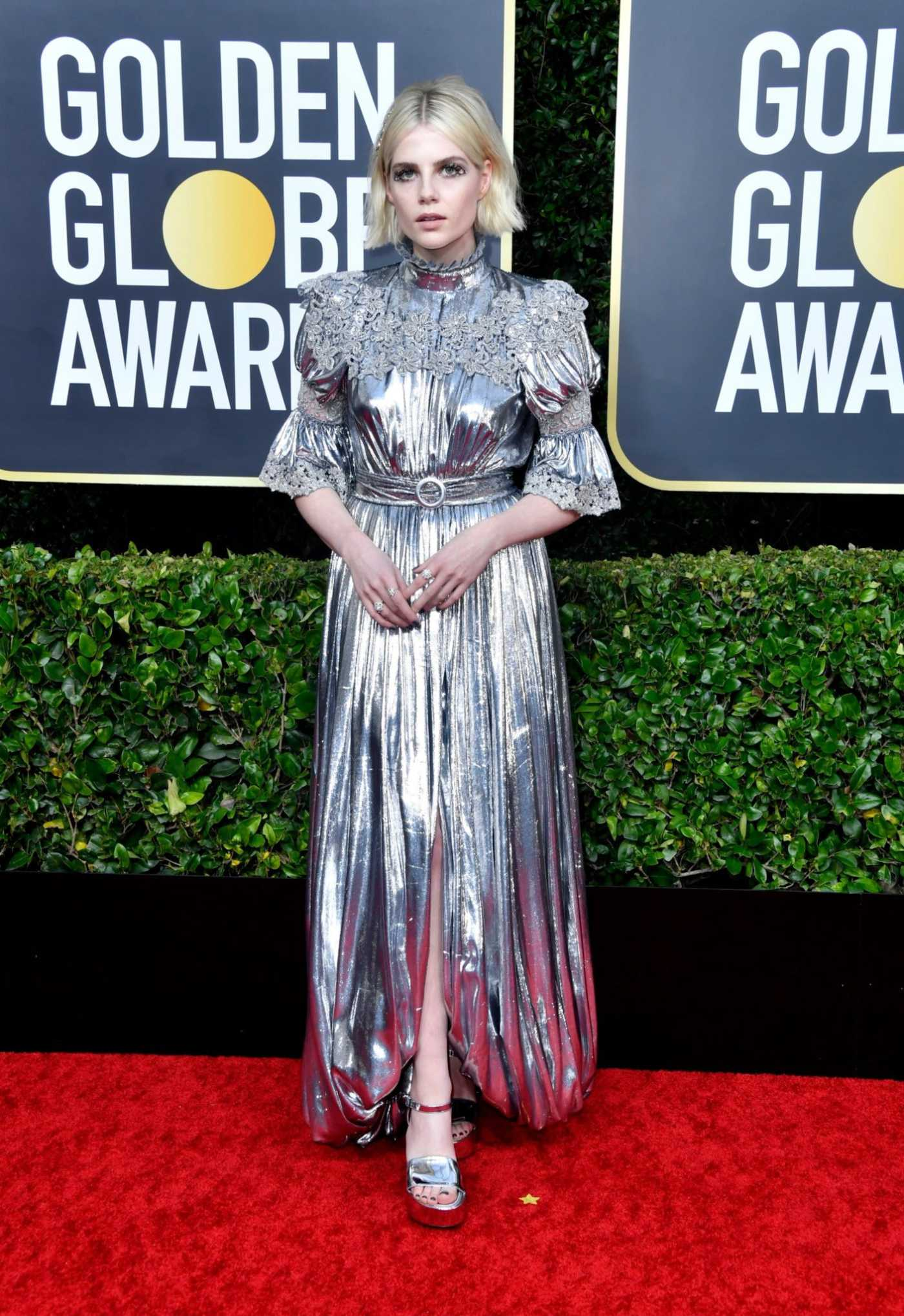 Lucy Boynton Attends the 77th Annual Golden Globe Awards at the Beverly Hilton Hotel in Beverly Hills 01/05/2020