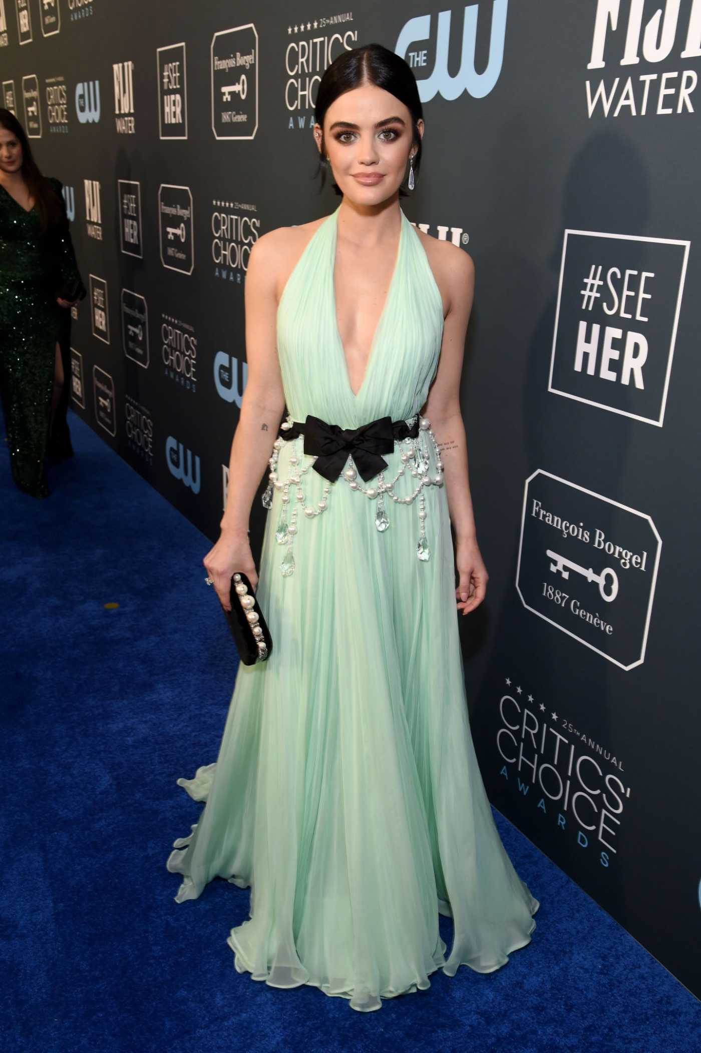 Lucy Hale Attends the 25th Annual Critics Choice Awards in Santa Monica 01/12/2020