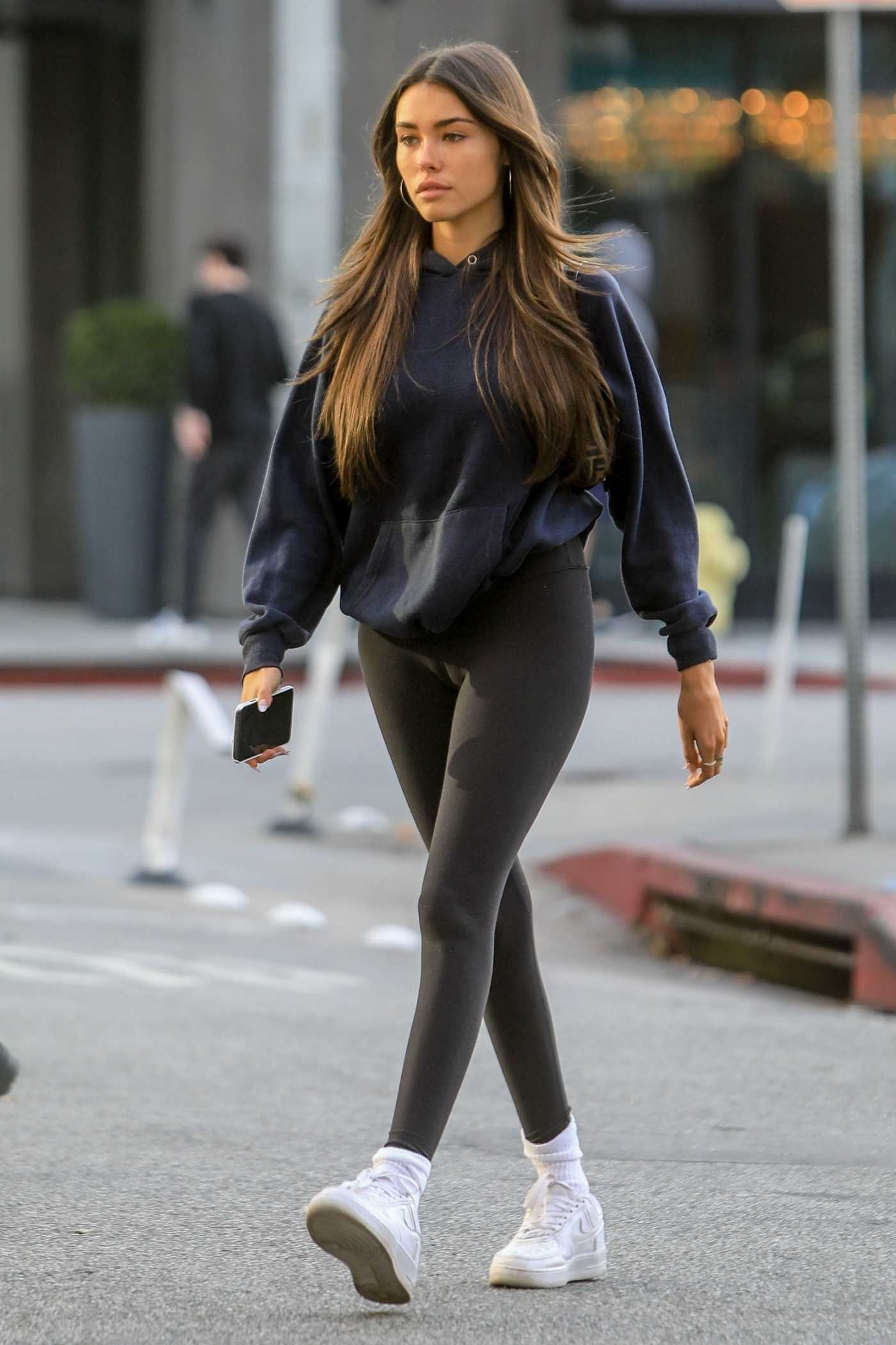 Madison Beer in a Black Leggings Was Seen Out in West Hollywood 01/01/2020