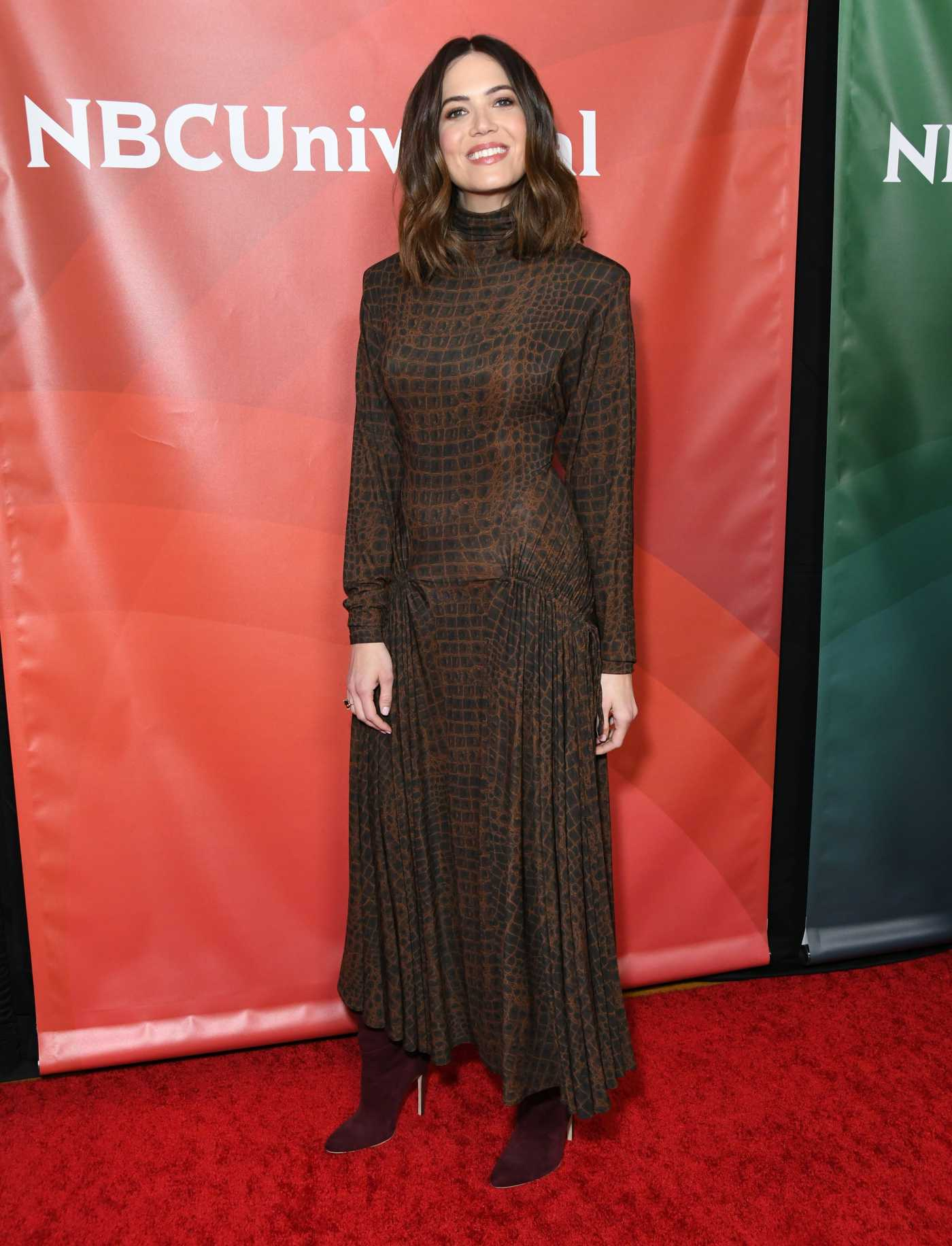 Mandy Moore Attends NBC Universal TCA Winter Press Tour in Los Angeles 01/11/2020