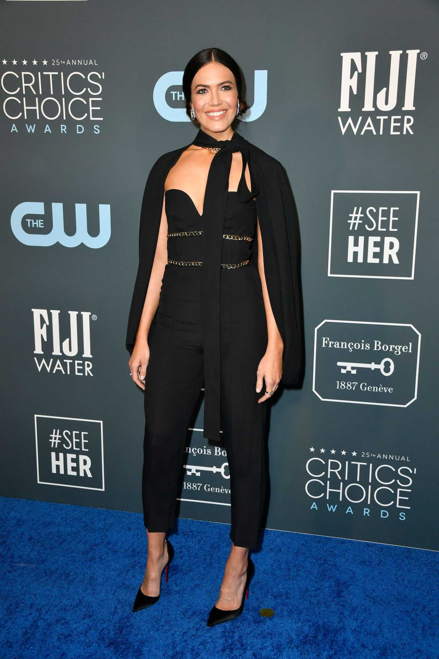 Mandy Moore Attends the 25th Annual Critics Choice Awards in Santa Monica 01/12/2020