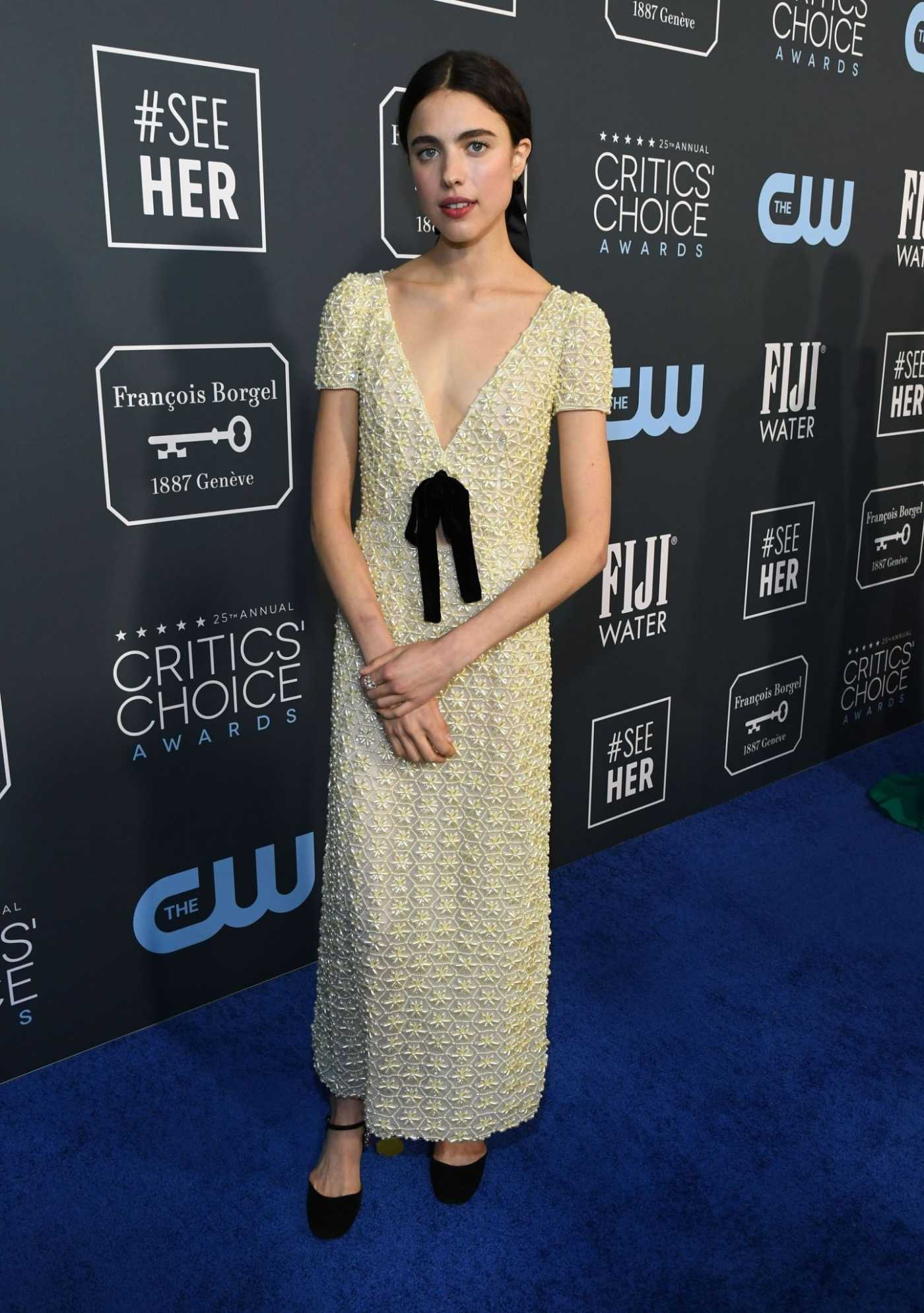 Margaret Qualley Attends the 25th Annual Critics Choice Awards in Santa Monica 01/12/2020
