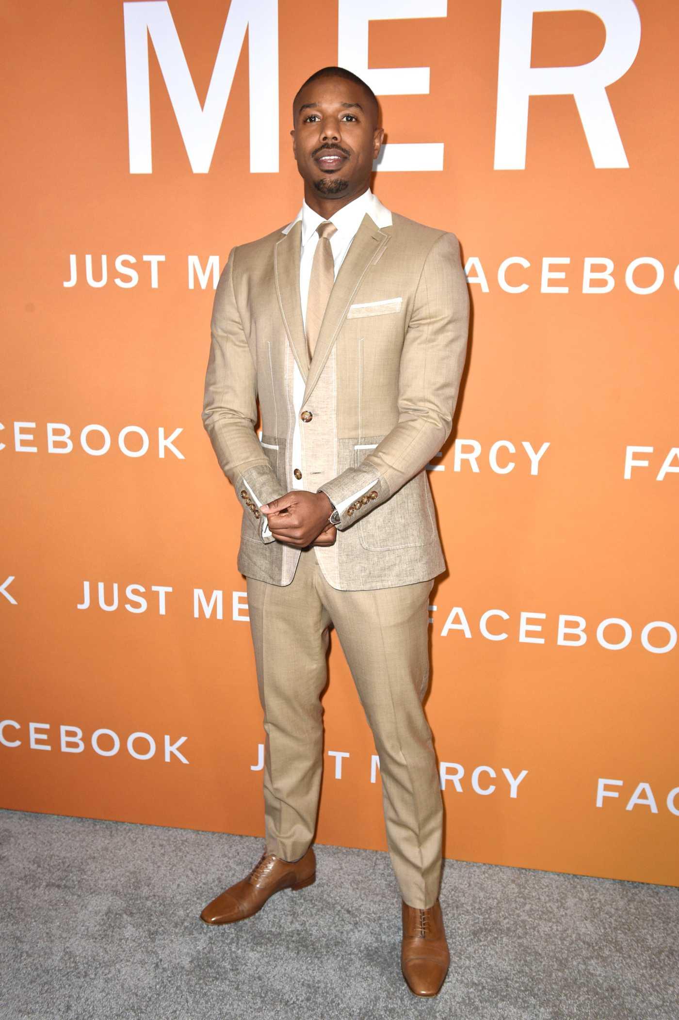 Michael B Jordan Attends Just Mercy Screening in Los Angeles 01/06/2020
