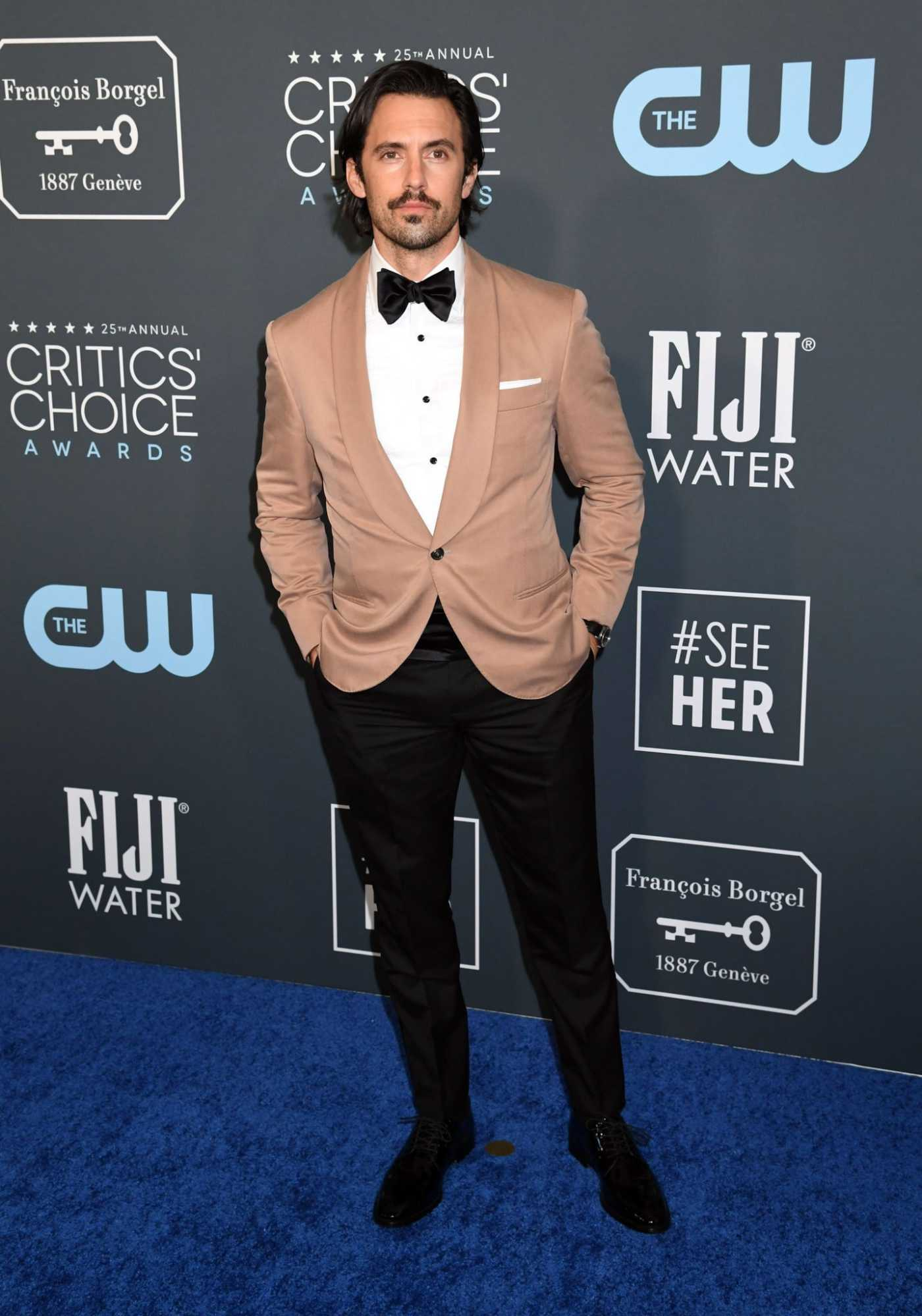 Milo Ventimiglia Attends the 25th Annual Critics Choice Awards in Santa Monica 01/12/2020