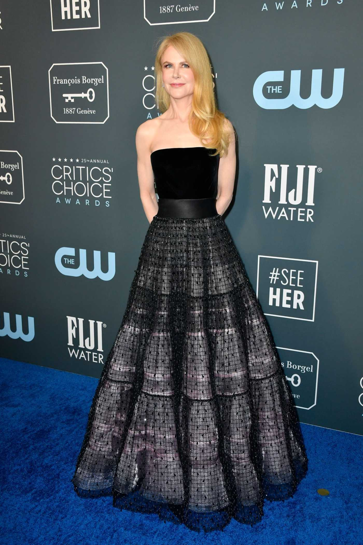 Nicole Kidman Attends the 25th Annual Critics Choice Awards in Santa Monica 01/12/2020