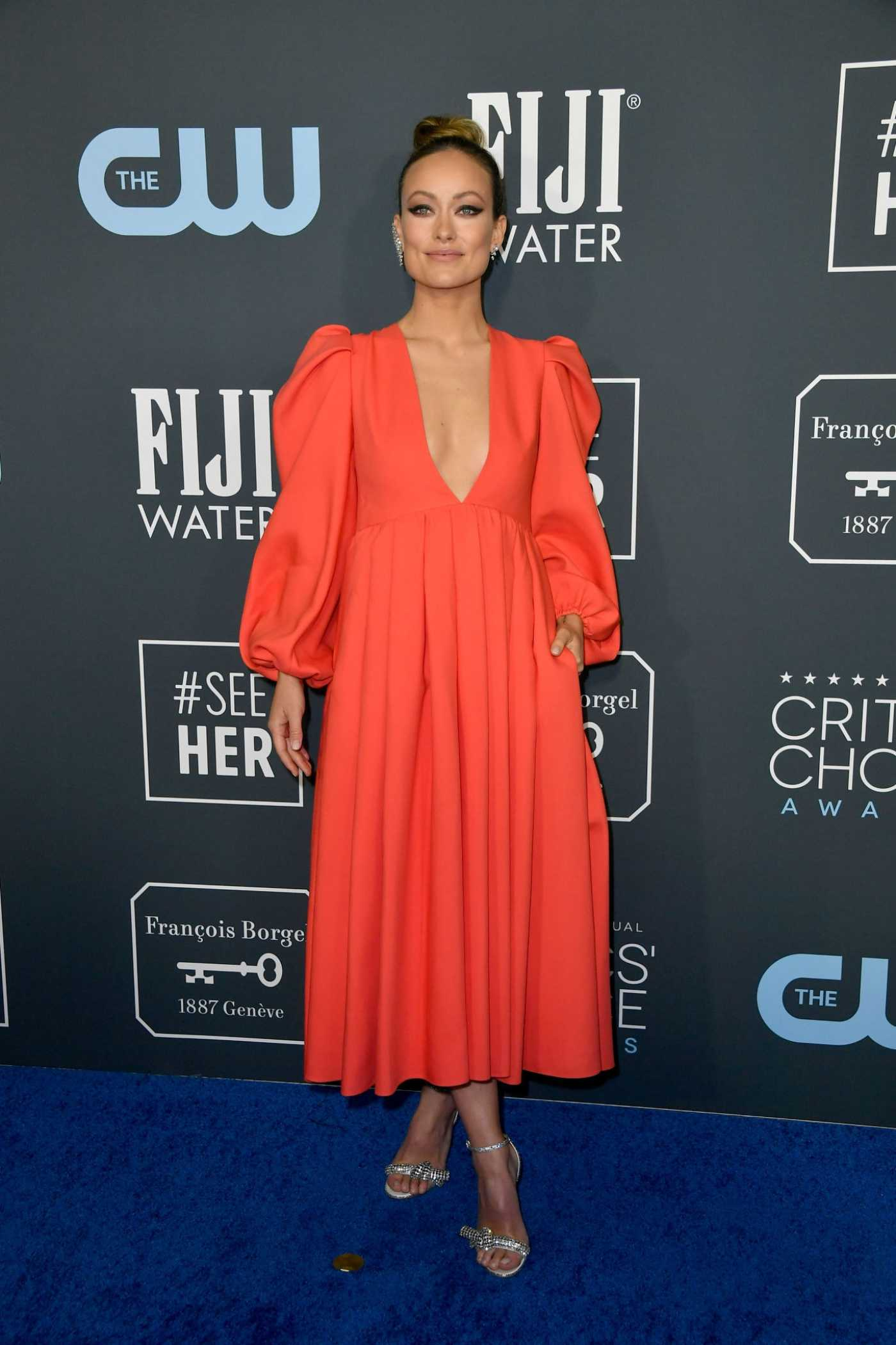 Olivia Wilde Attends the 25th Annual Critics Choice Awards in Santa Monica 01/12/2020