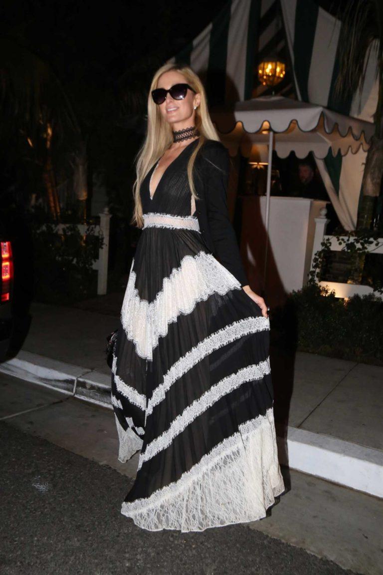 Paris Hilton in a Long Dress