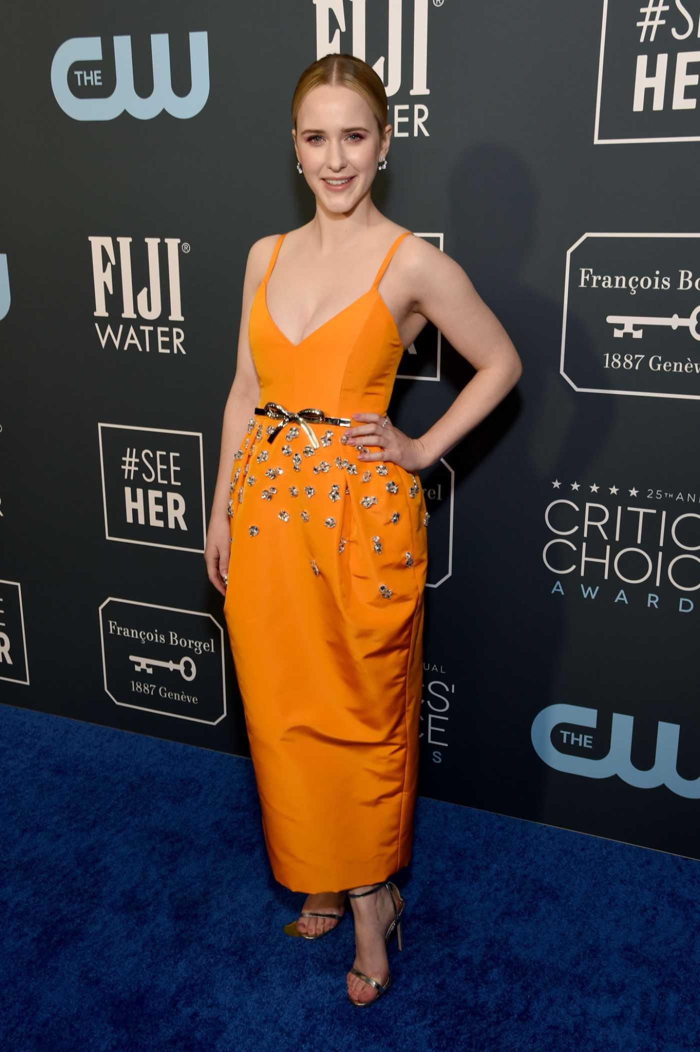 Rachel Brosnahan Attends the 25th Annual Critics Choice Awards in Santa Monica 01/12/2020
