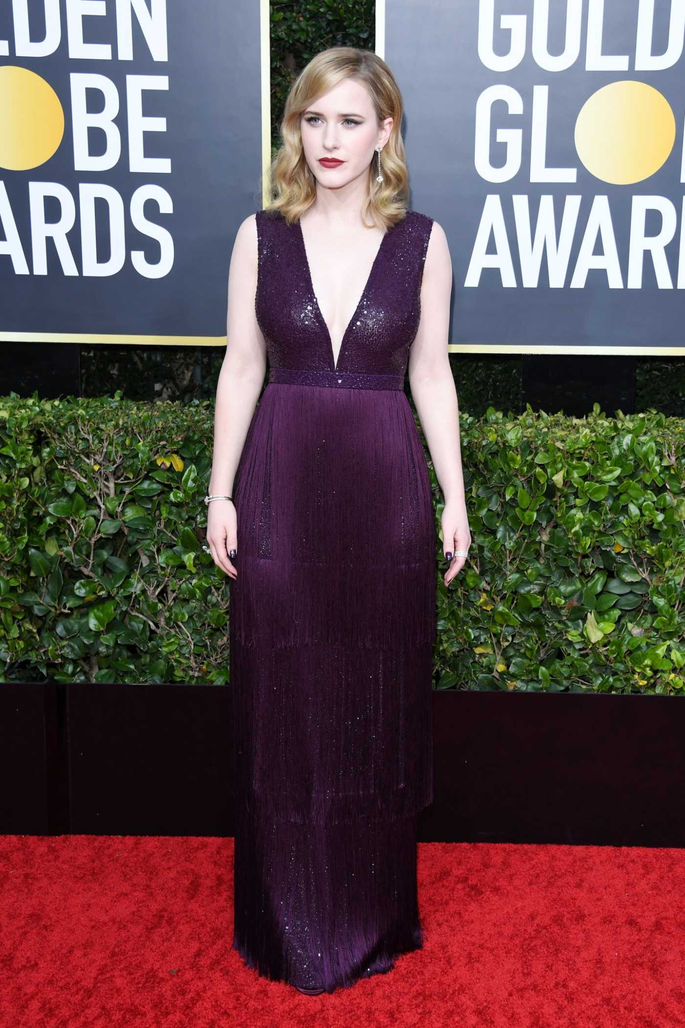 Rachel Brosnahan Attends the 77th Annual Golden Globe Awards at the Beverly Hilton Hotel in Beverly Hills 01/05/2020