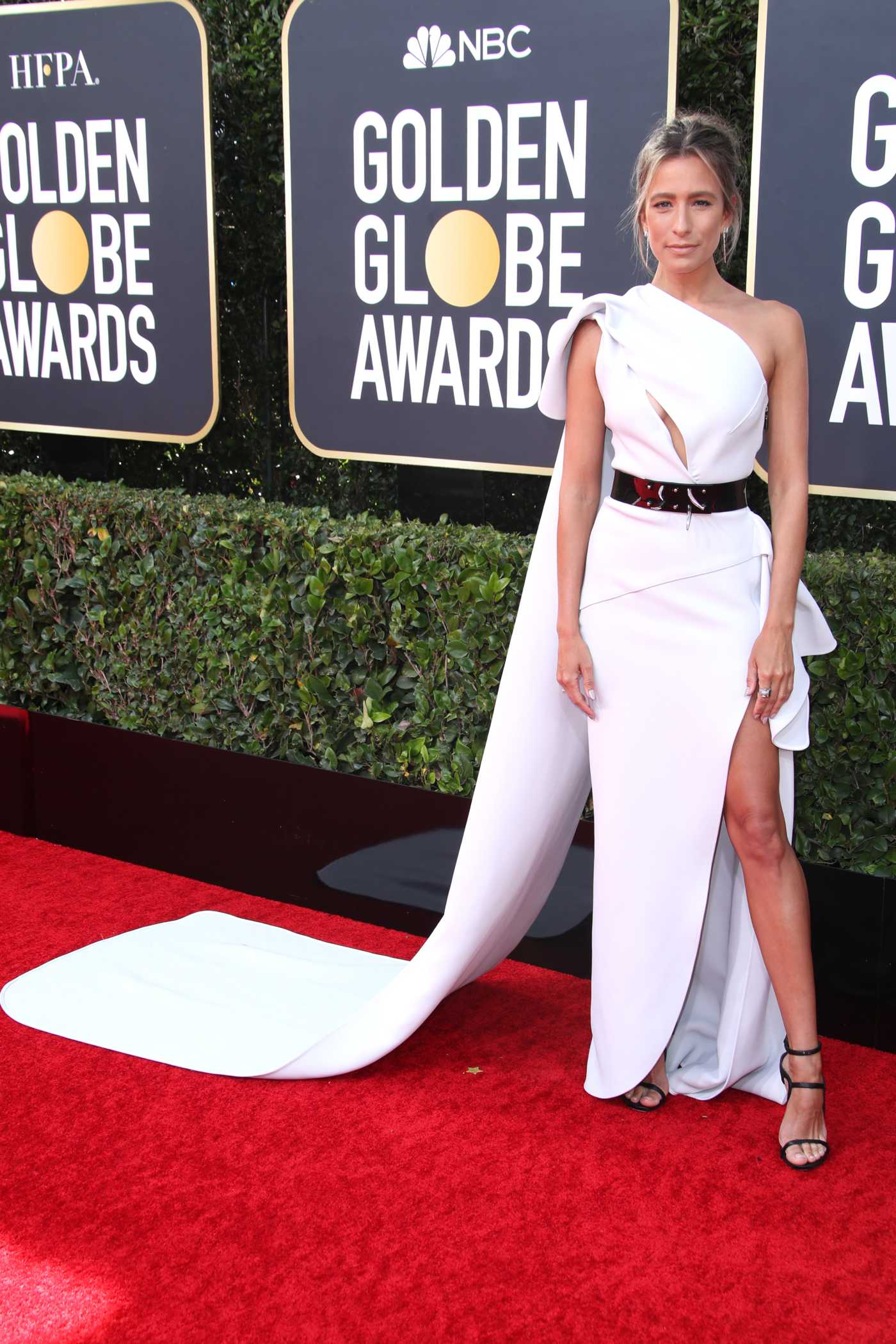 Renee Bargh Attends the 77th Annual Golden Globe Awards at the Beverly Hilton Hotel in Beverly Hills 01/05/2020