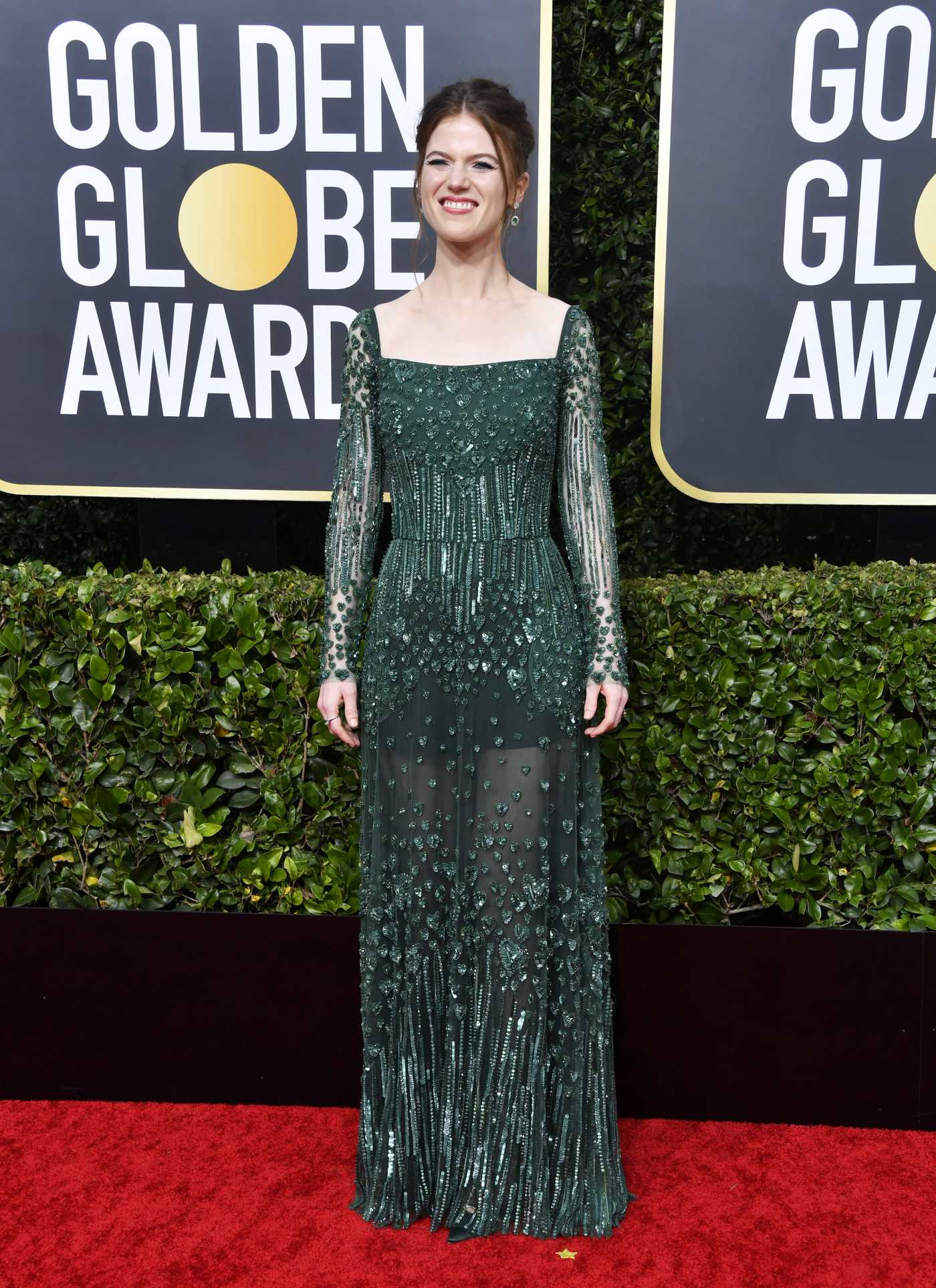 Rose Leslie Attends the 77th Annual Golden Globe Awards at the Beverly Hilton Hotel in Beverly Hills 01/05/2020