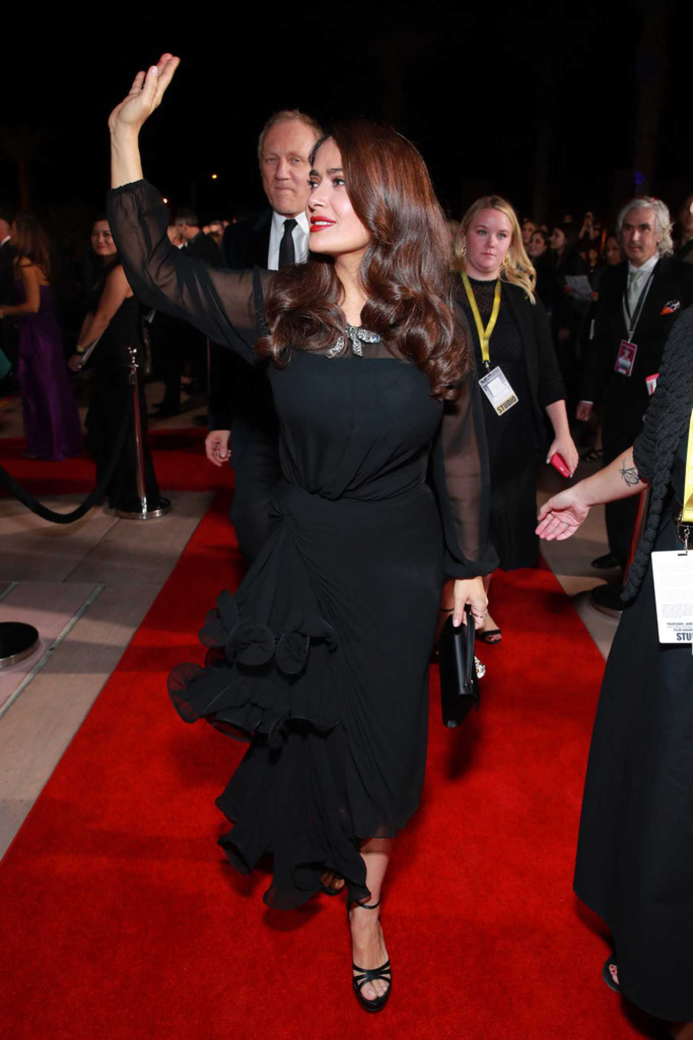 Salma Hayek Attends the 31st Annual Palm Springs International Film Festival in Palm Springs CA 01/02/2020