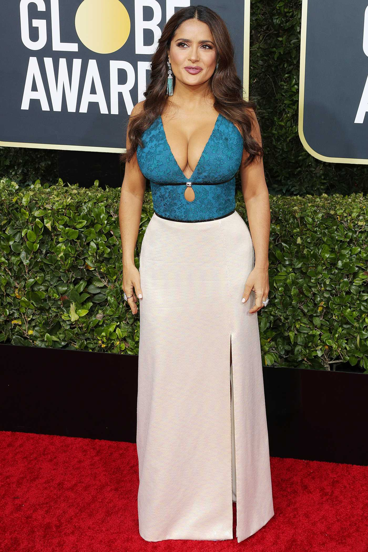 Salma Hayek Attends the 77th Annual Golden Globe Awards at the Beverly Hilton Hotel in Beverly Hills 01/05/2020