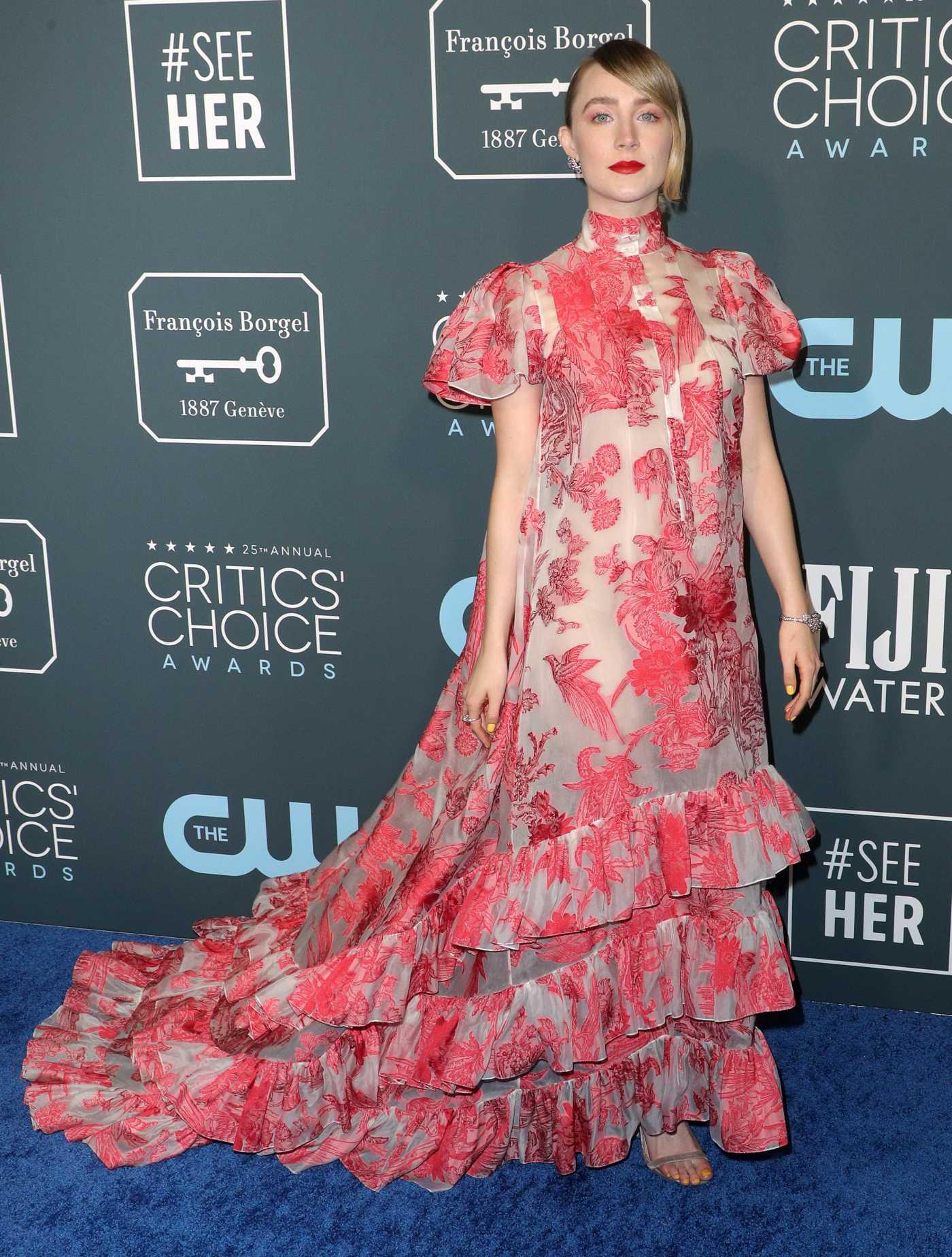 Saoirse Ronan Attends the 25th Annual Critics Choice Awards in Santa Monica 01/12/2020