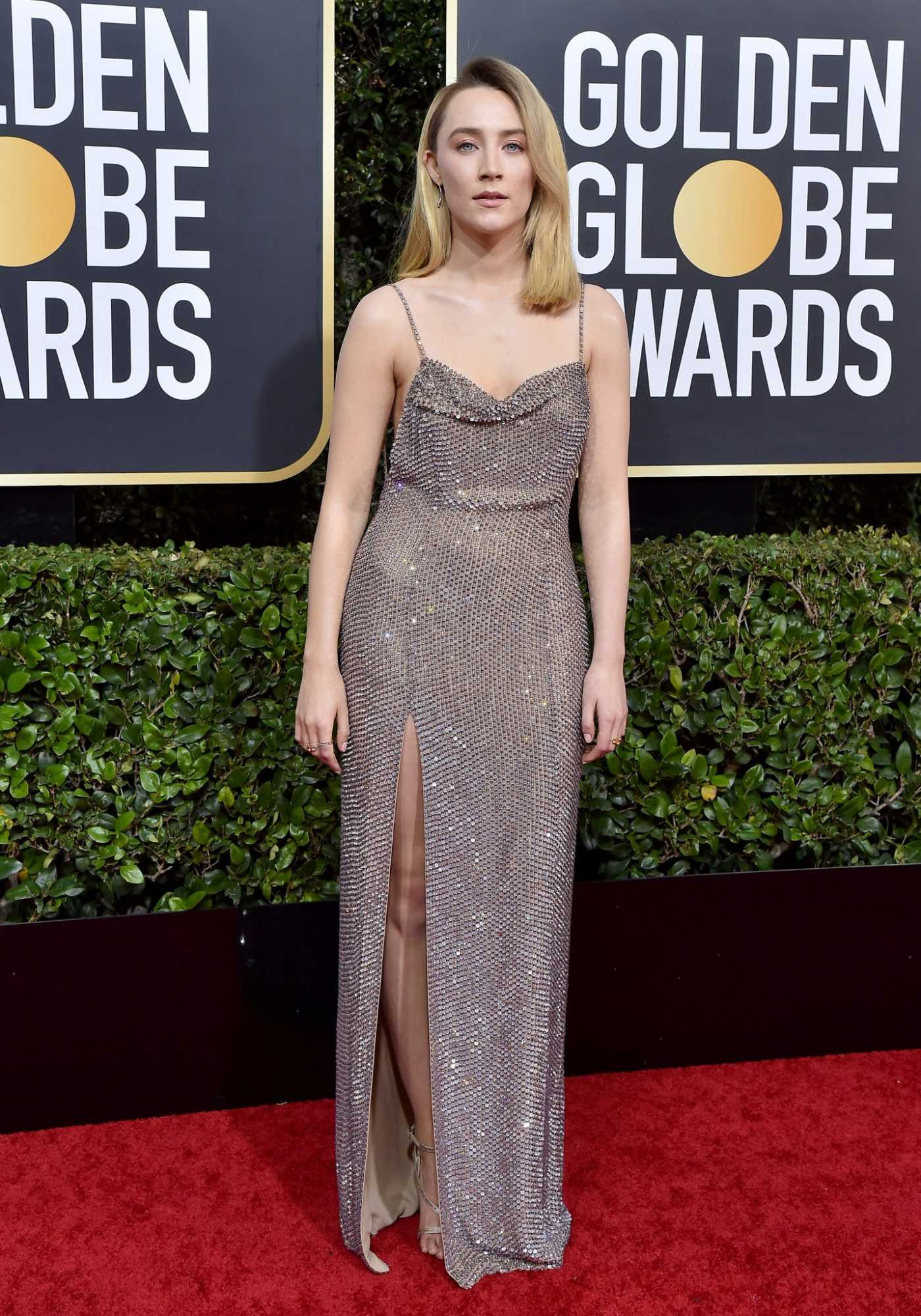 Saoirse Ronan Attends the 77th Annual Golden Globe Awards at the Beverly Hilton Hotel in Beverly Hills 01/05/2020