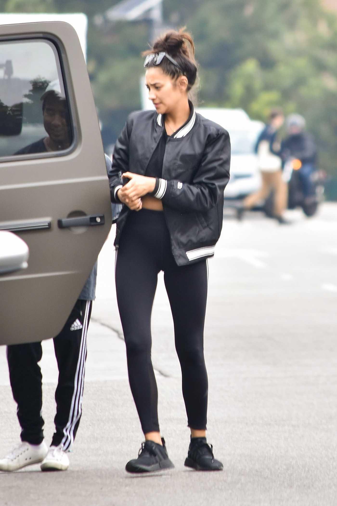 Shay Mitchell in a Black Leggings Was Seen Out in Los Feliz 01/20/2020