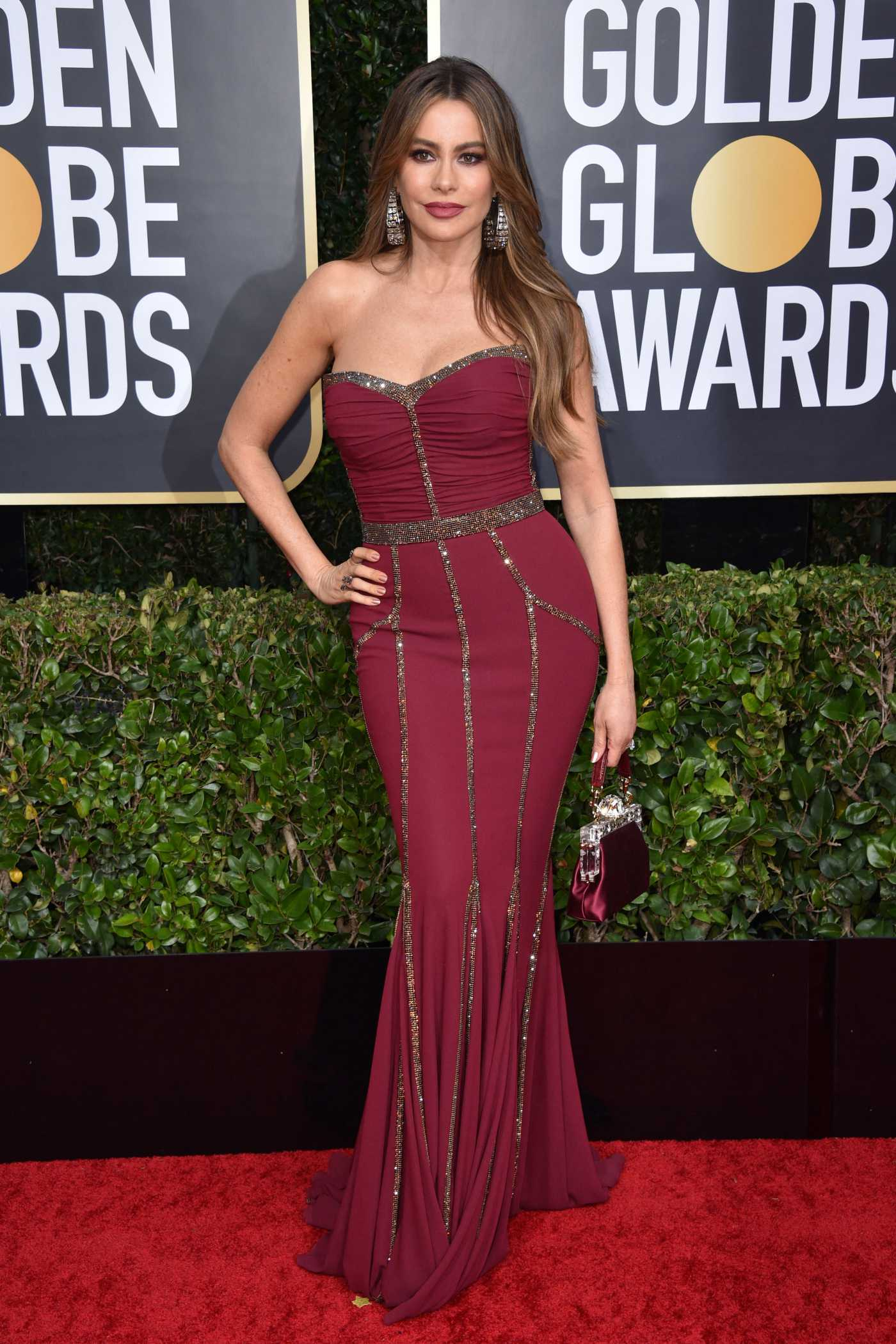 Sofia Vergara Attends the 77th Annual Golden Globe Awards at the Beverly Hilton Hotel in Beverly Hills 01/05/2020