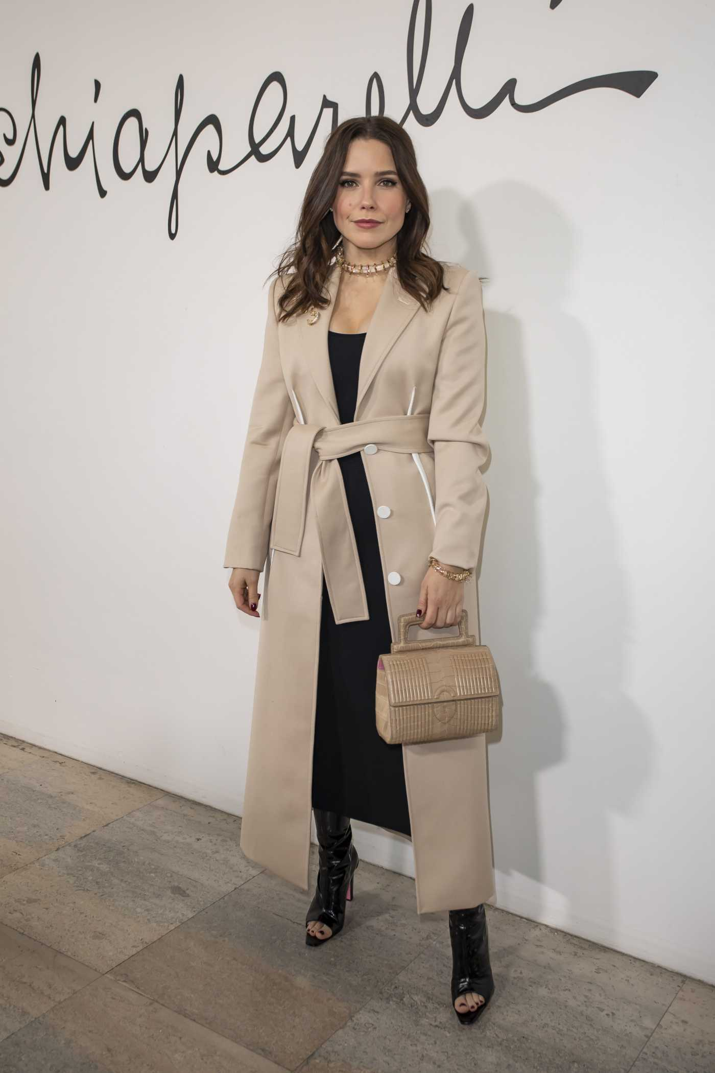 Sophia Bush Attends 2020 Schiaparelli Haute Couture Fashion Show in Paris 01/20/2020