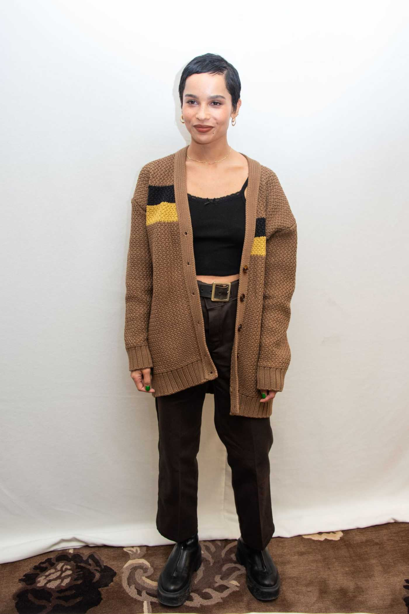Zoe Kravitz Attends the High Fidelity Press Conference in Beverly Hills 01/17/2020