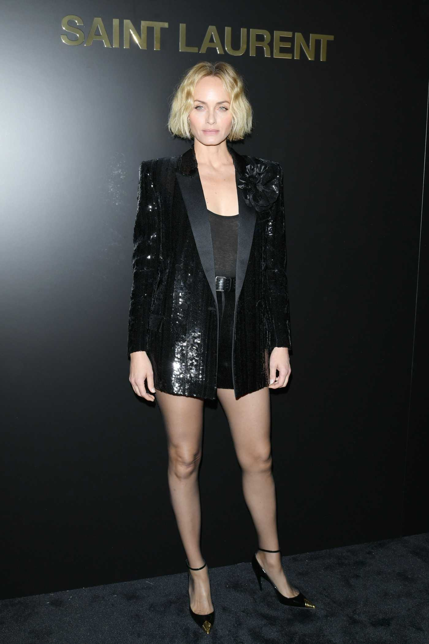 Amber Valletta Attends 2020 Saint Laurent Fashion Show in Paris 02/25/2020