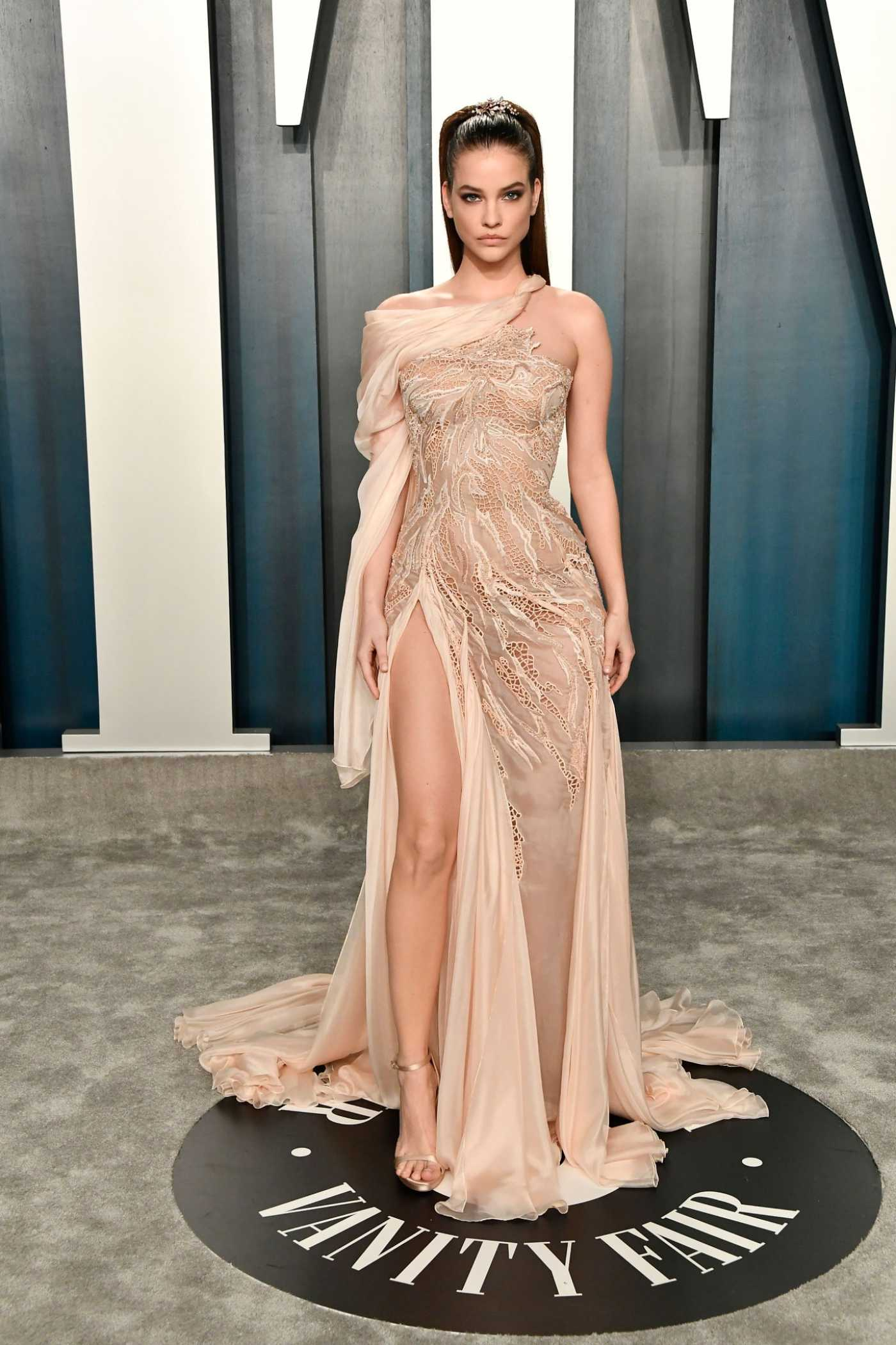 Barbara Palvin Attends the 92nd Academy Awards Vanity Fair Oscar Party in Beverly Hills 02/09/2020