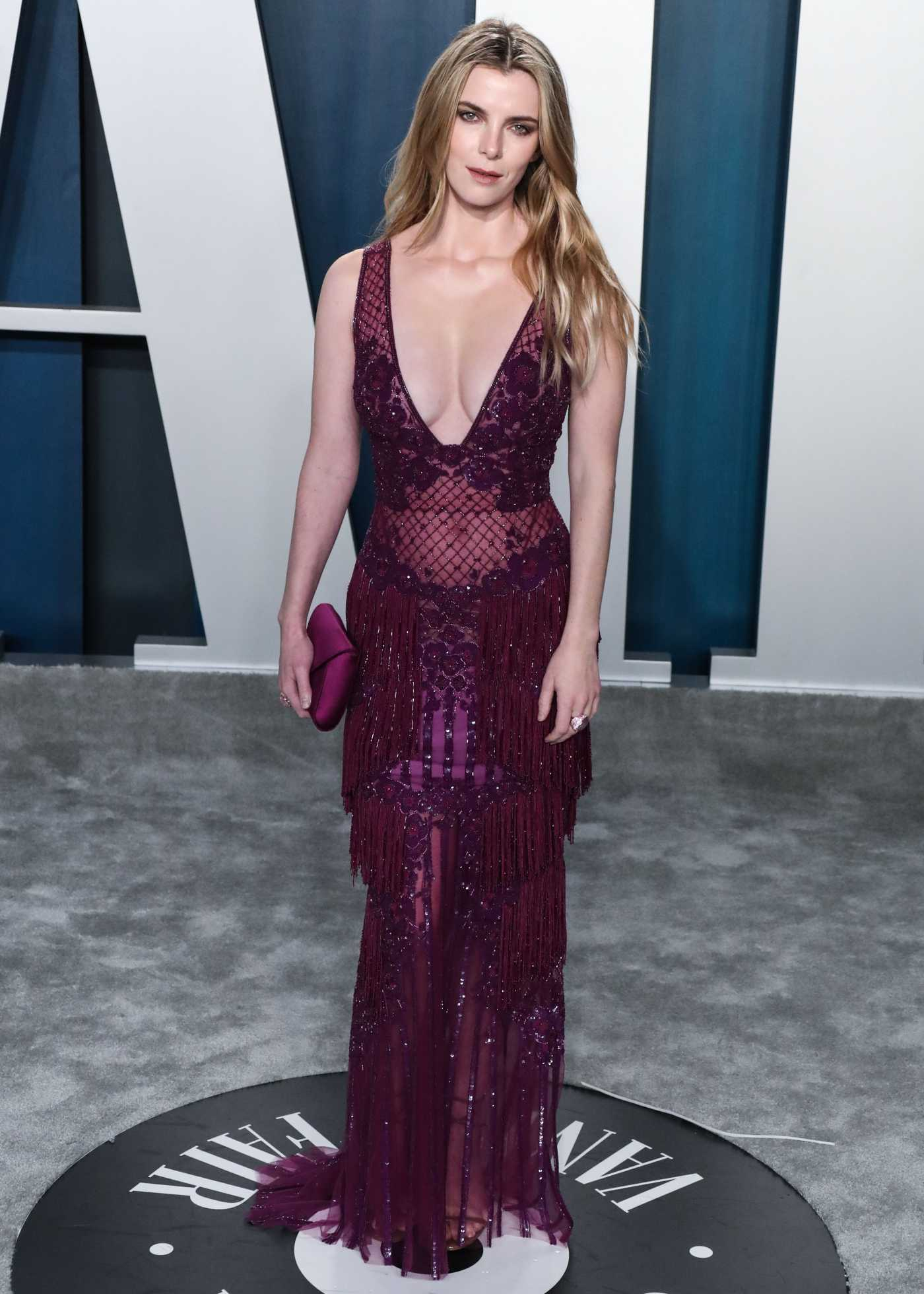Betty Gilpin Attends the 92nd Academy Awards Vanity Fair Oscar Party in Beverly Hills 02/09/2020