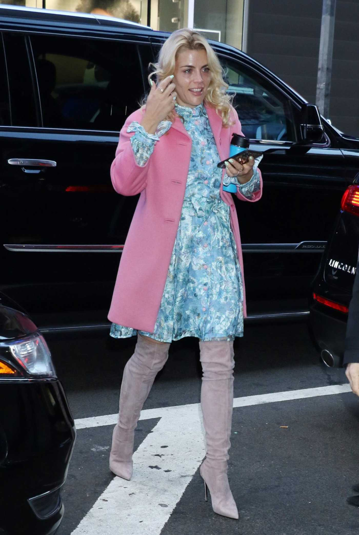 Busy Philipps in a Pink Coat Was Seen Out in New York City 02/19/2020