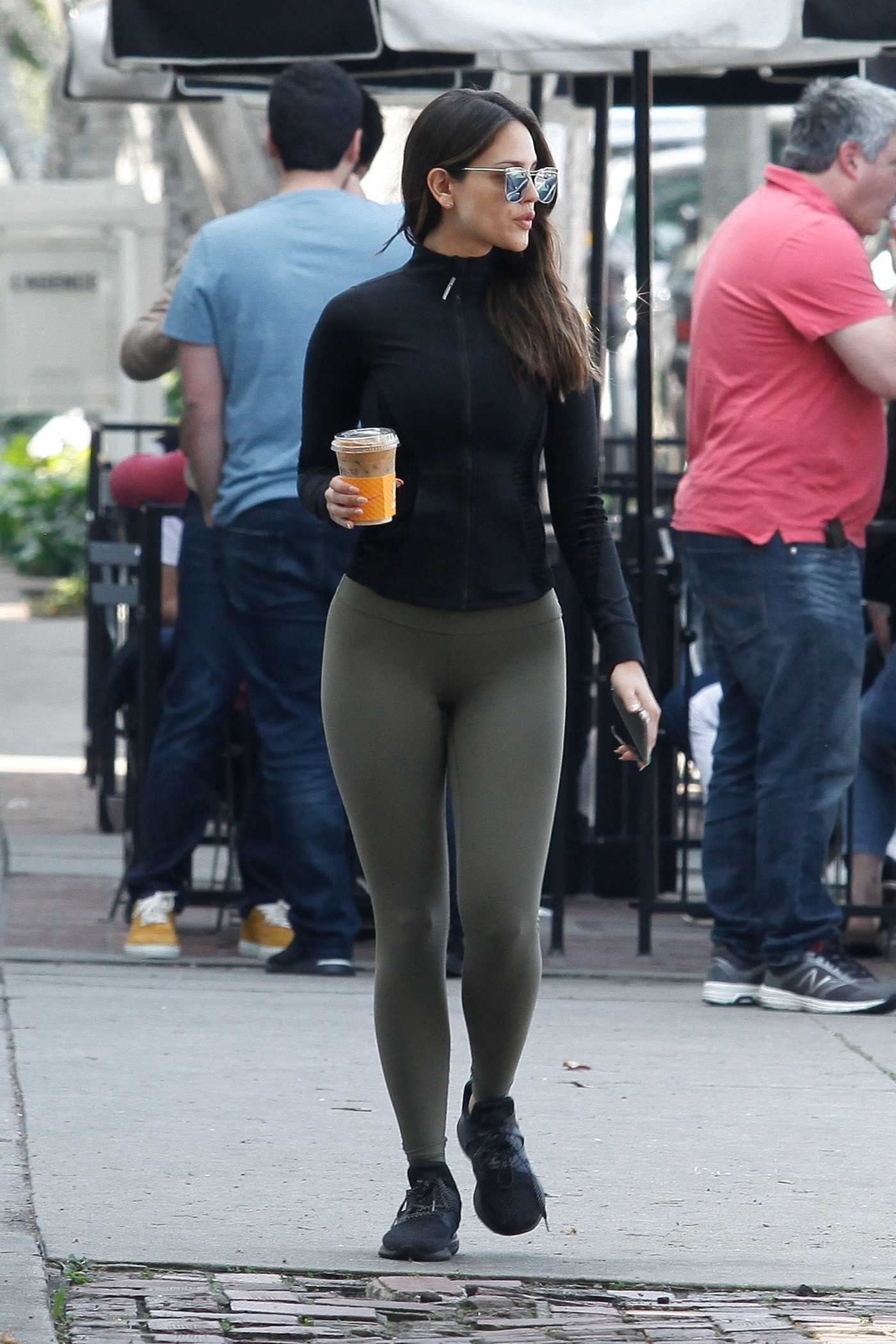 Eiza Gonzalez in a Black Sneakers Was Seen Out in West Hollywood 02/19/2020