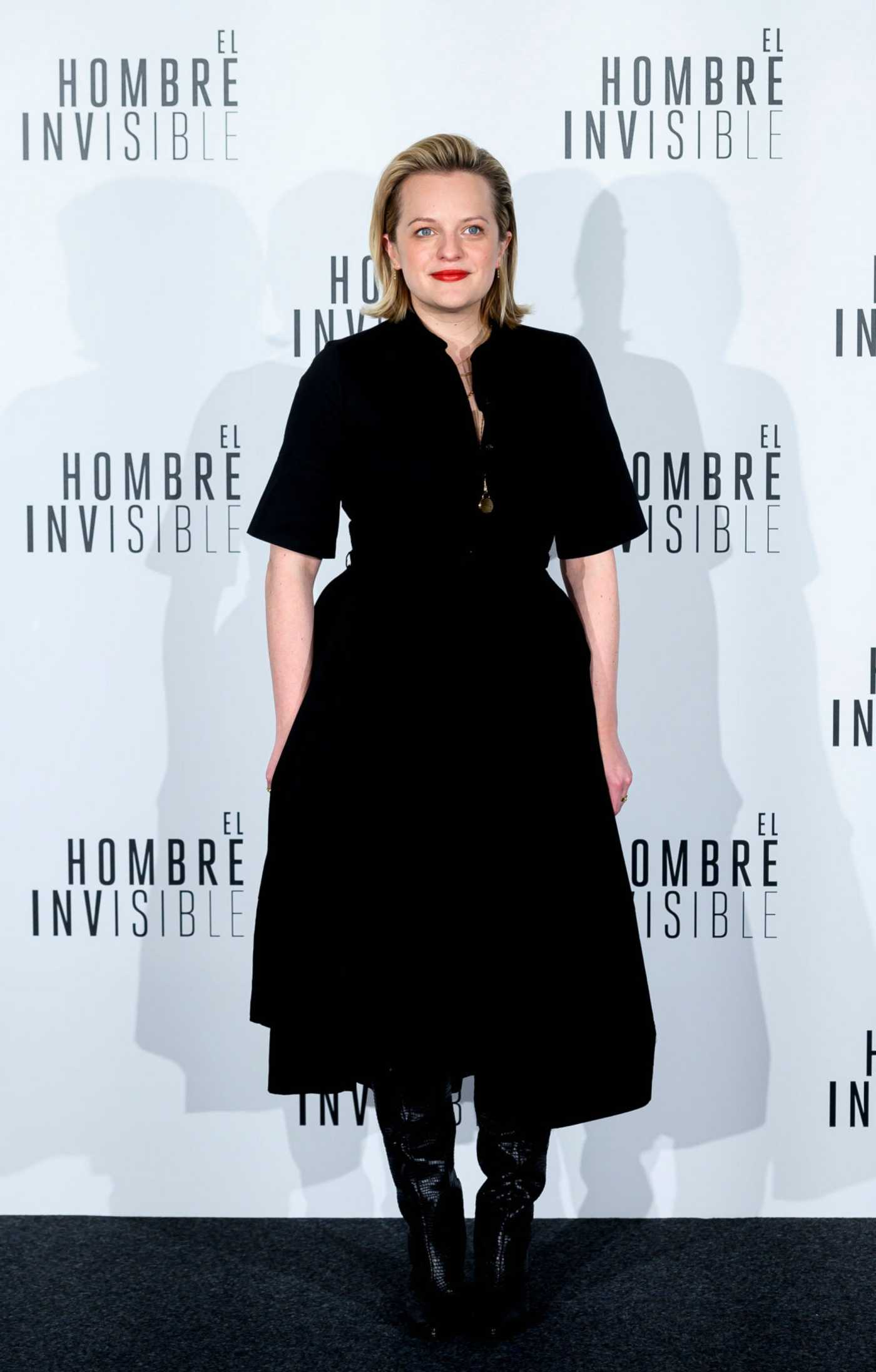 Elisabeth Moss Attends The Invisible Man Premiere in Madrid 02/19/2020