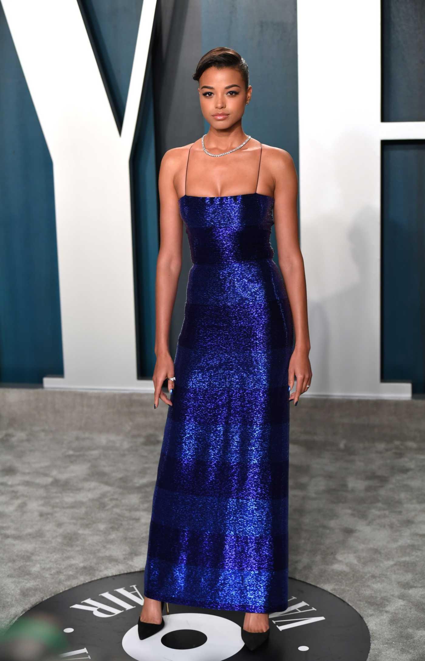 Ella Balinska Attends the 92nd Academy Awards Vanity Fair Oscar Party in Beverly Hills 02/09/2020