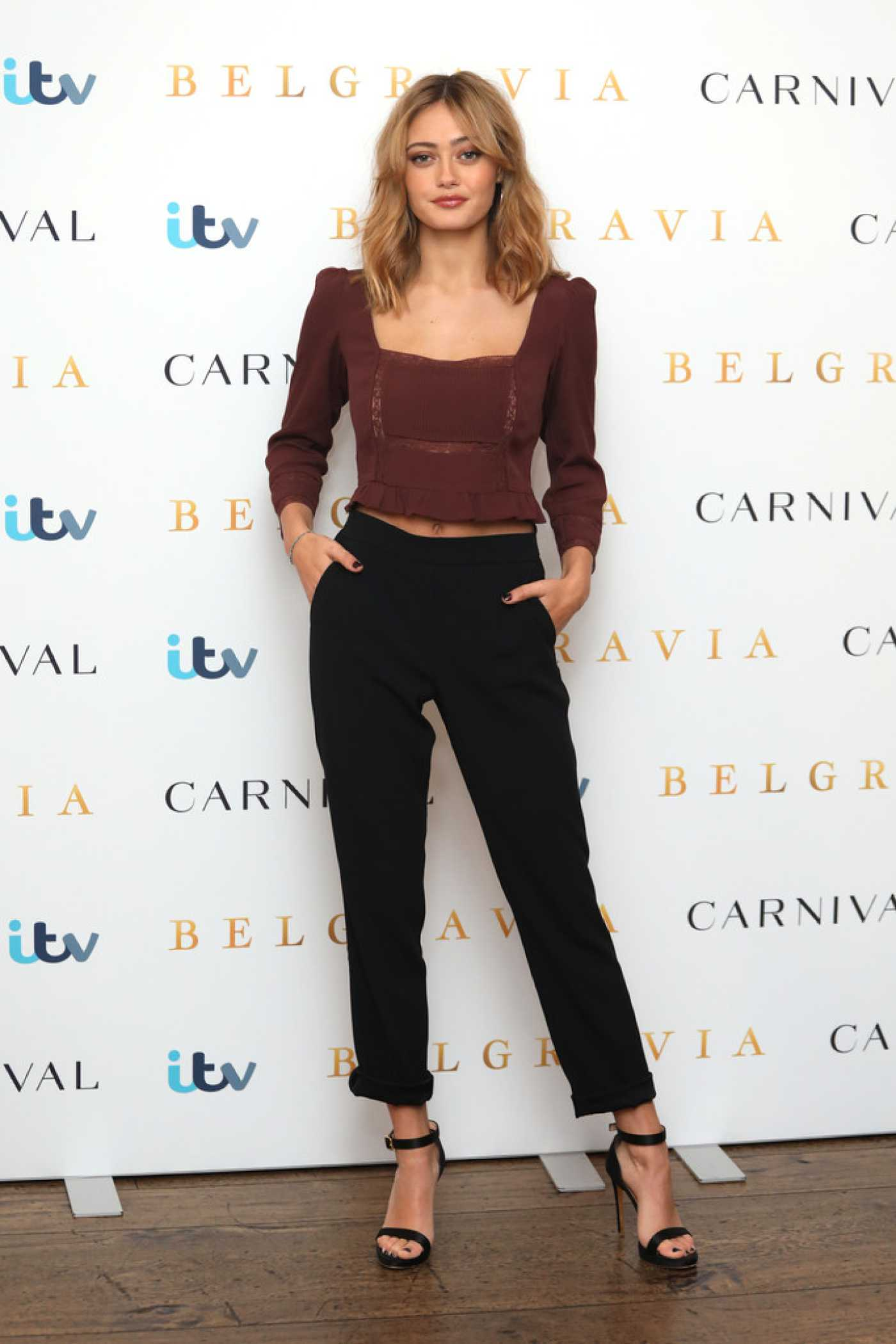 Ella Purnell Attends the Belgravia Photocall in London 02/16/2020