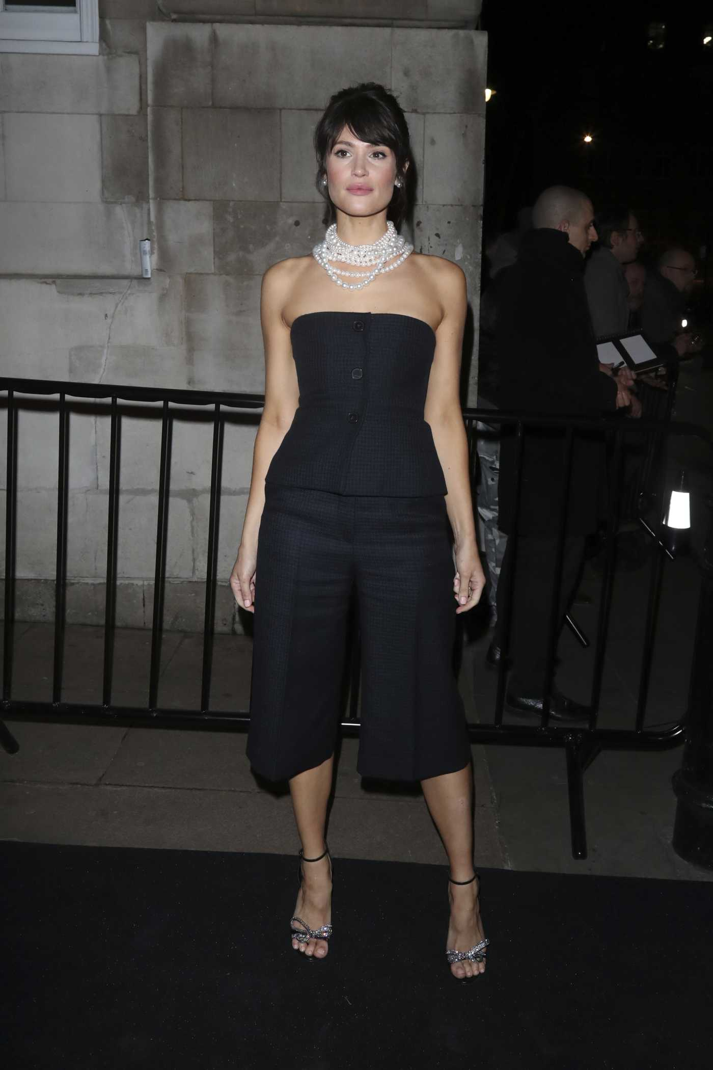 Gemma Arterton Attends 2020 Charles Finch and Chanel Pre-Bafta Party in London 02/01/2020