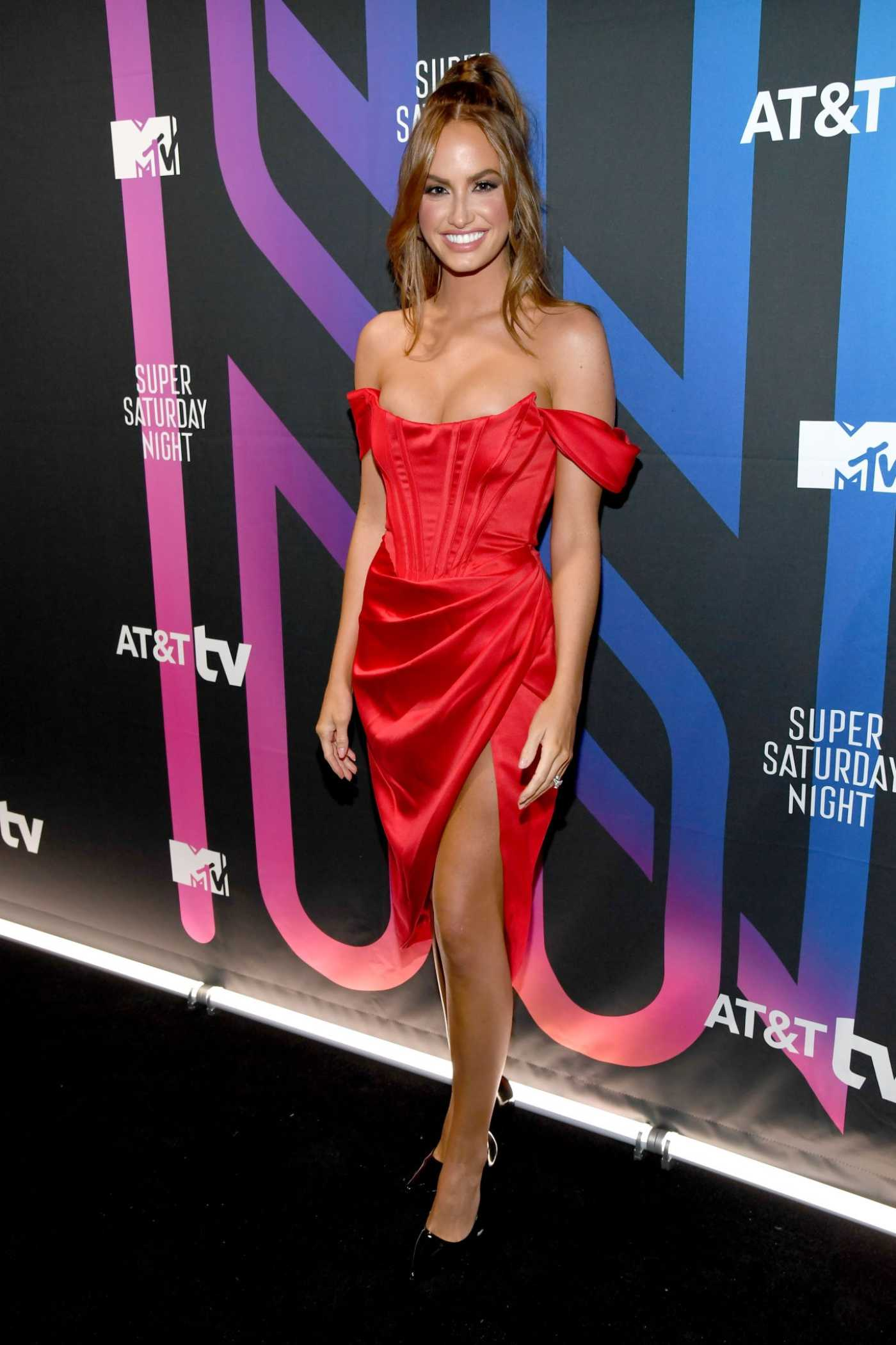 Haley Kalil Attends AT&T TV Super Saturday Night in Miami 02/01/2020