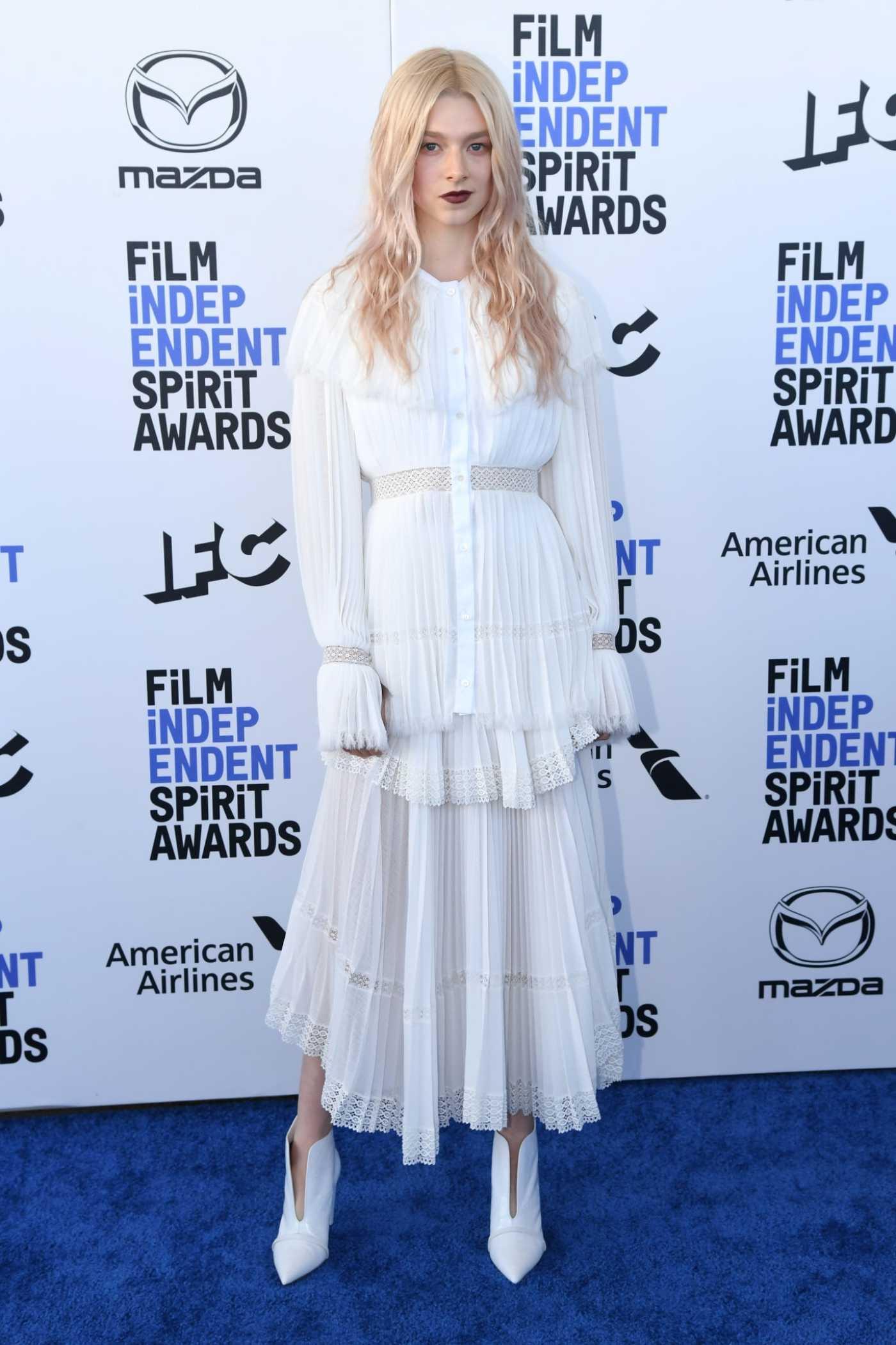 Hunter Schafer Attends 2020 Film Independent Spirit Awards in Santa Monica 02/08/2020