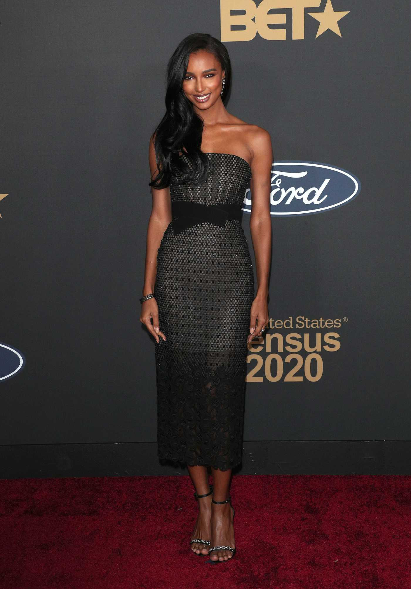 Jasmine Tookes Attends the 51st NAACP Image Awards at Pasadena Civic Auditorium in Pasadena 02/22/2020