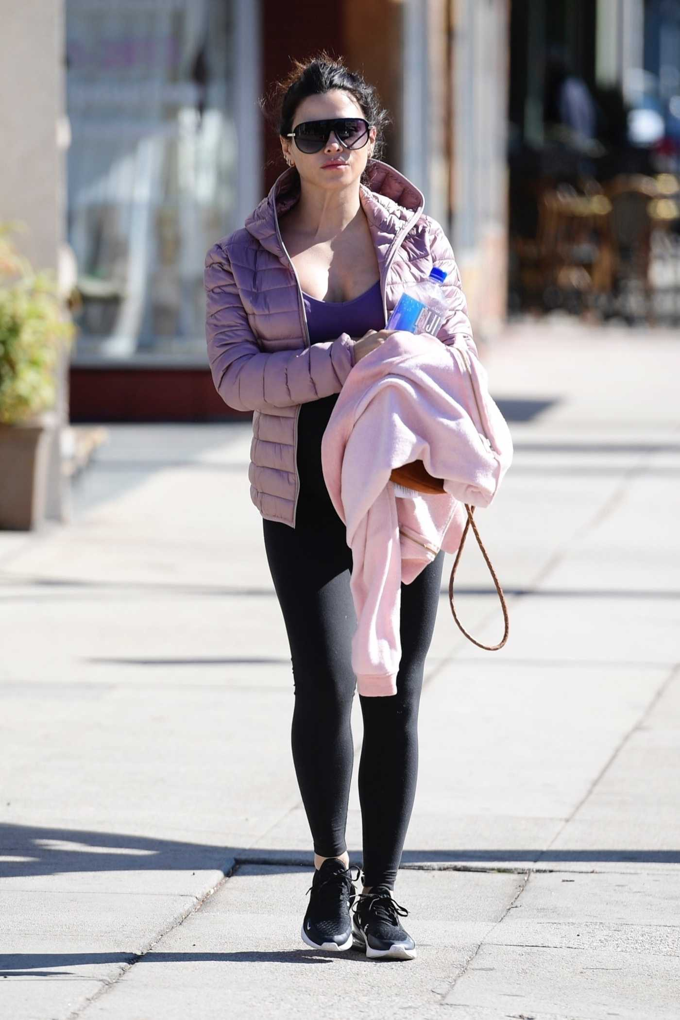 Jenna Dewan in a Black Sneakers Was Seen Out in Studio City 02/03/2020