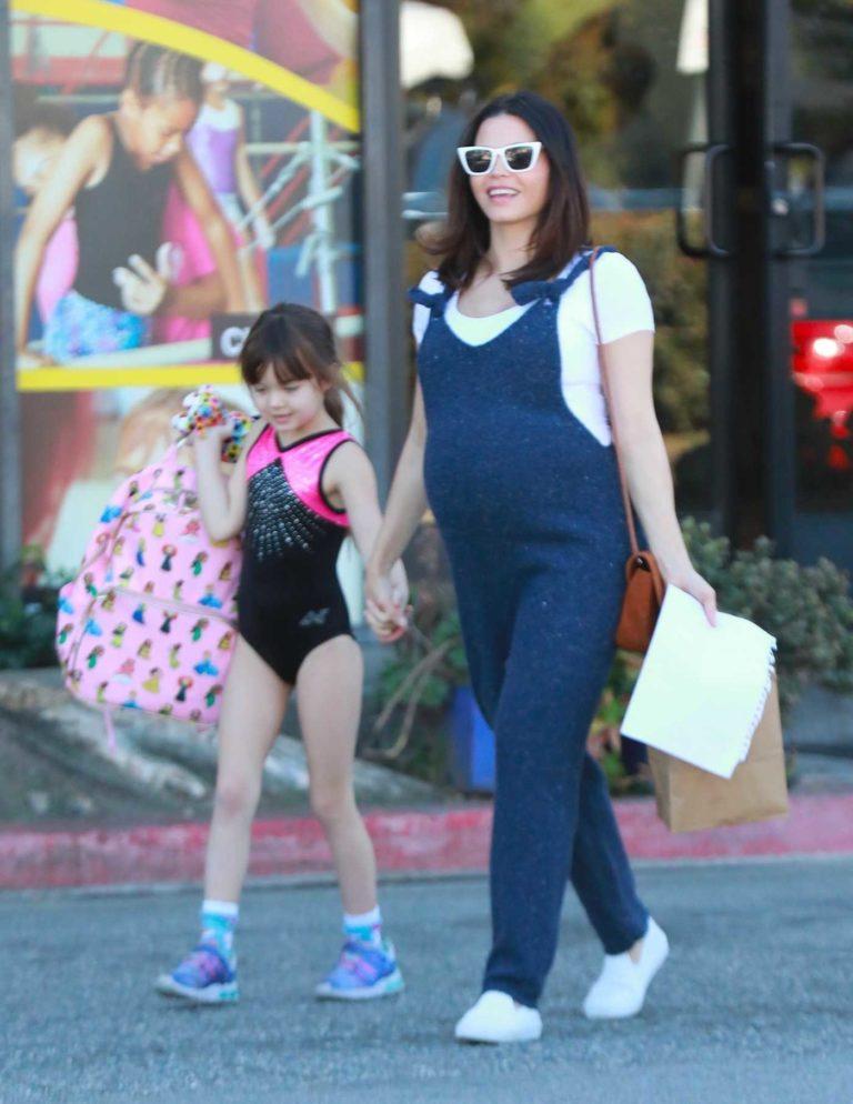 Jenna Dewan in a Blue Jumpsuit
