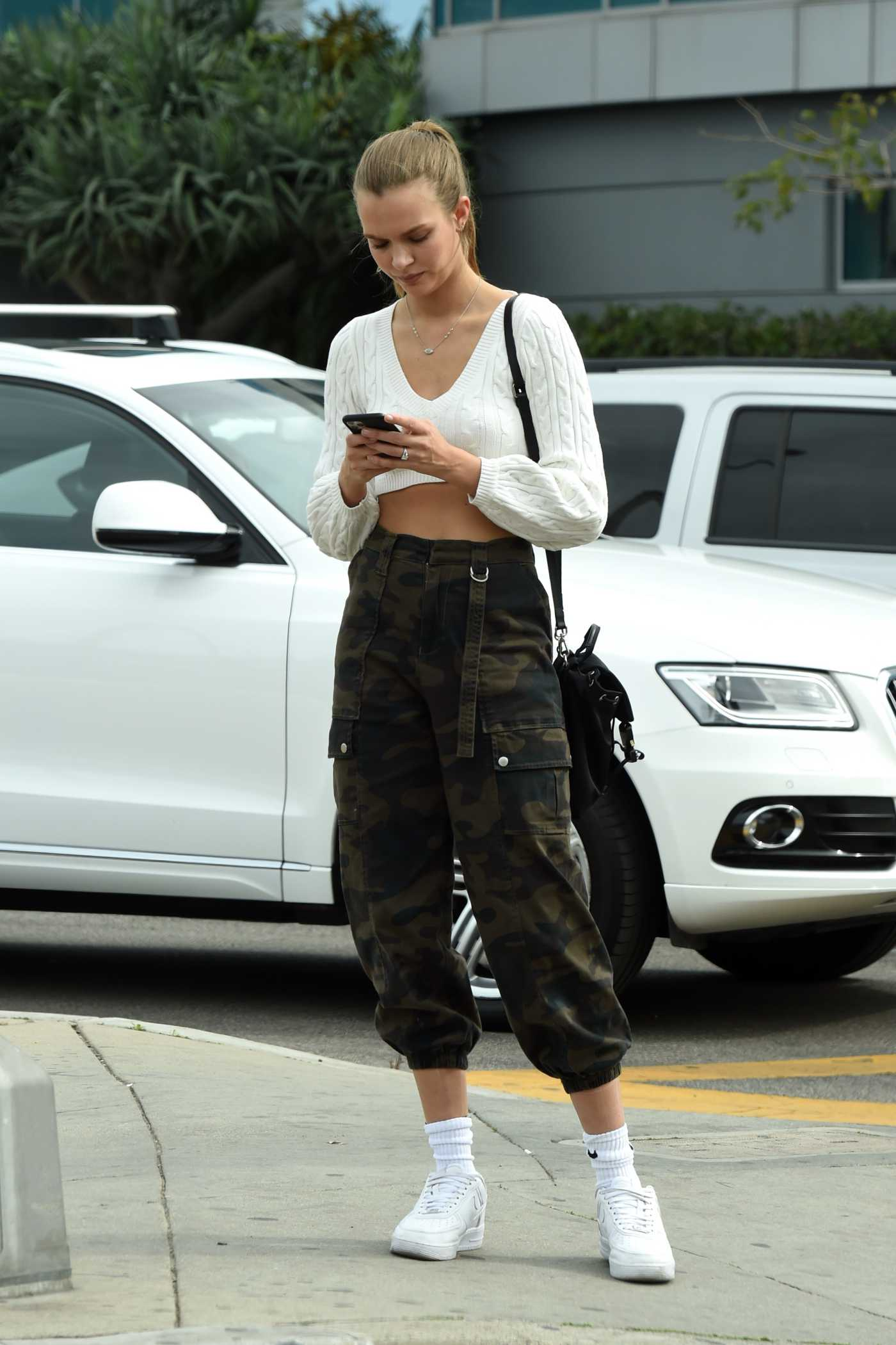 Josephine Skriver in a White Nike Sneakers Was Seen Out in West Hollywood 02/27/2020
