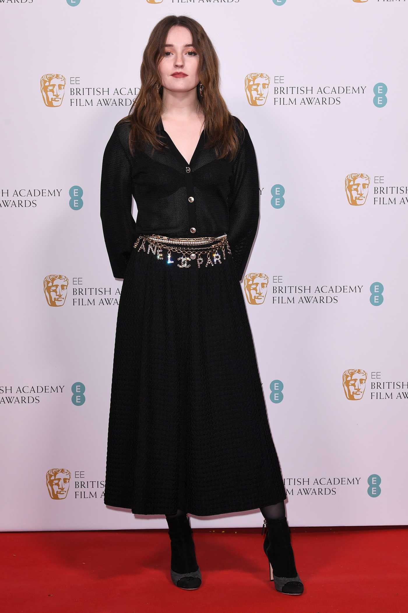 Kaitlyn Dever Attends 2020 EE British Academy Film Awards Nominees Party in London 02/01/2020