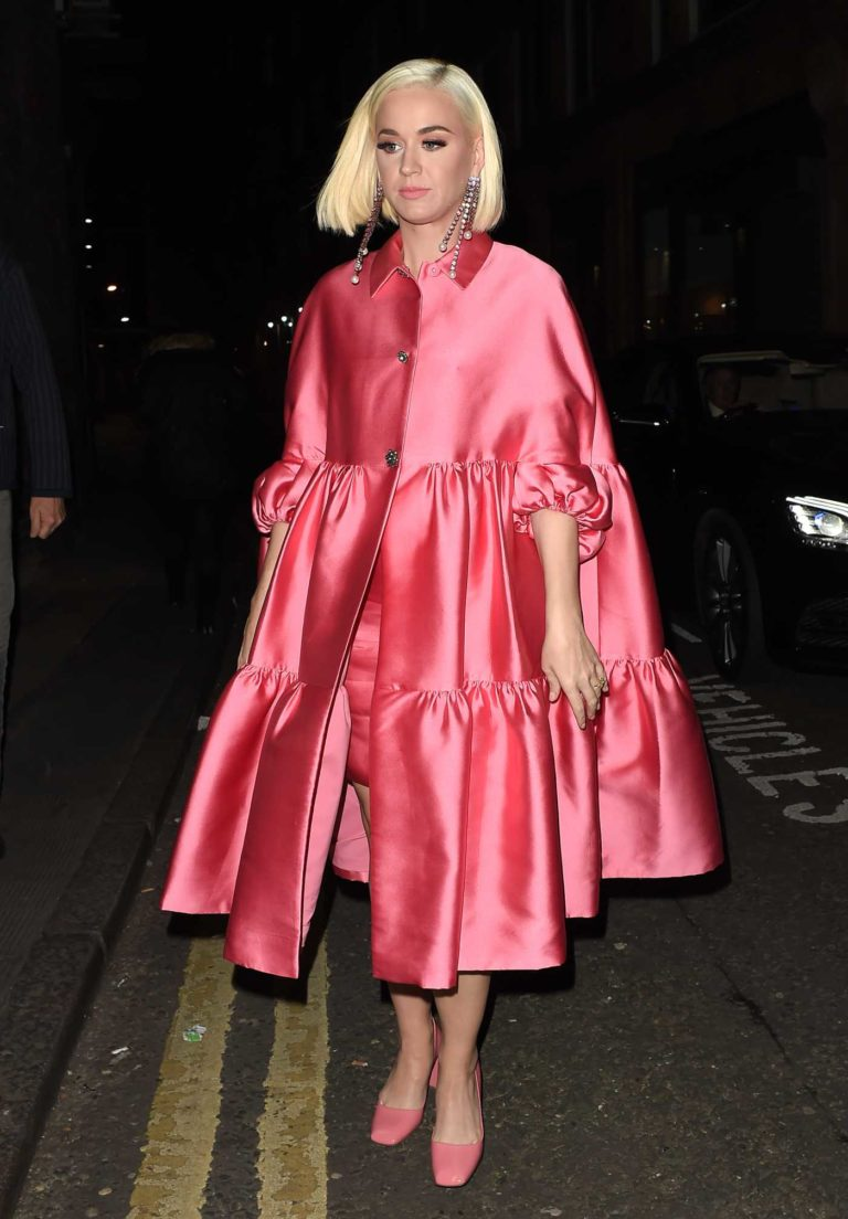Katy Perry in a Pink Trench Coat