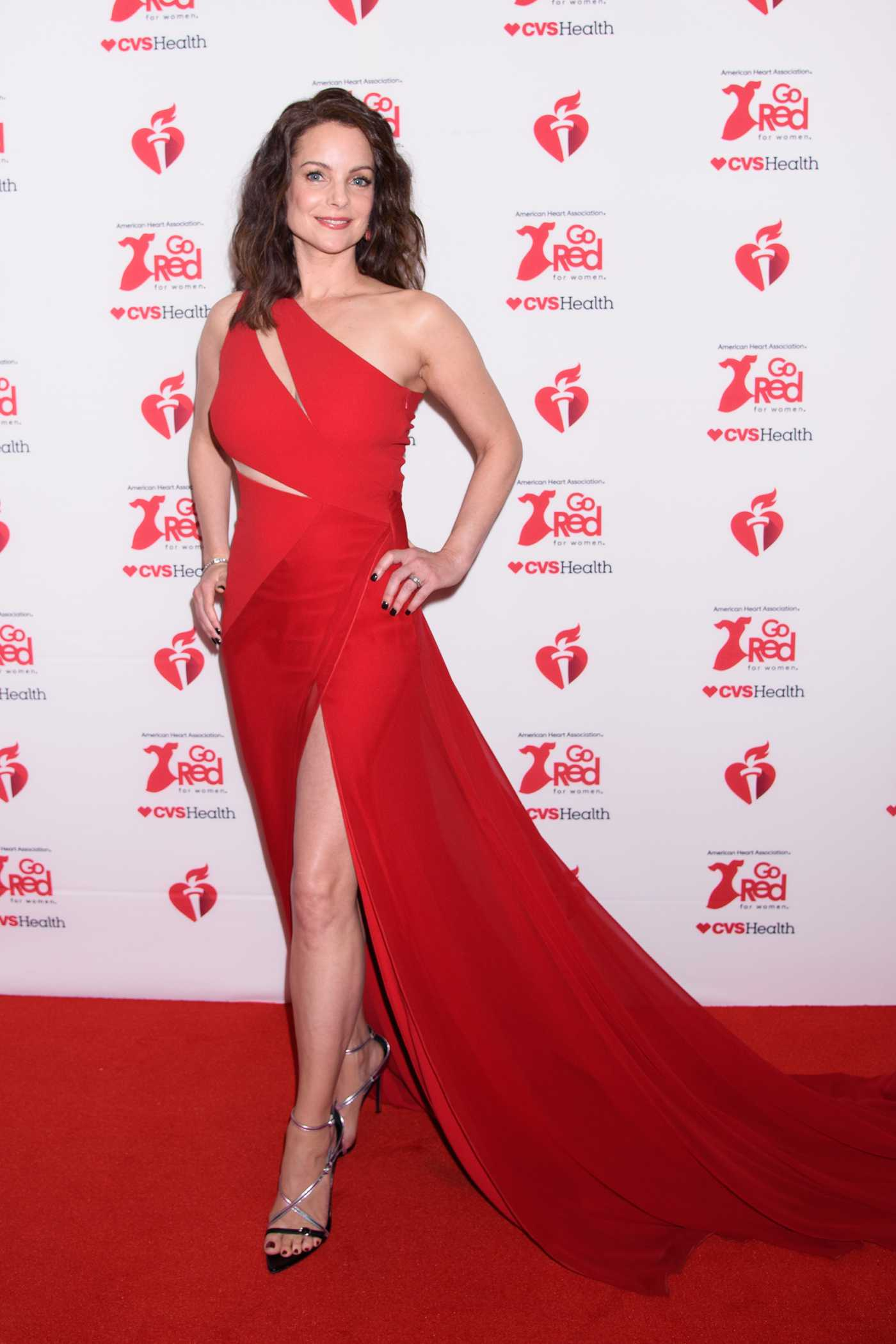 Kimberly Williams-Paisley Attends the American Red Heart Association's Go Red for Women Red Dress Collection in New York 02/05/2020