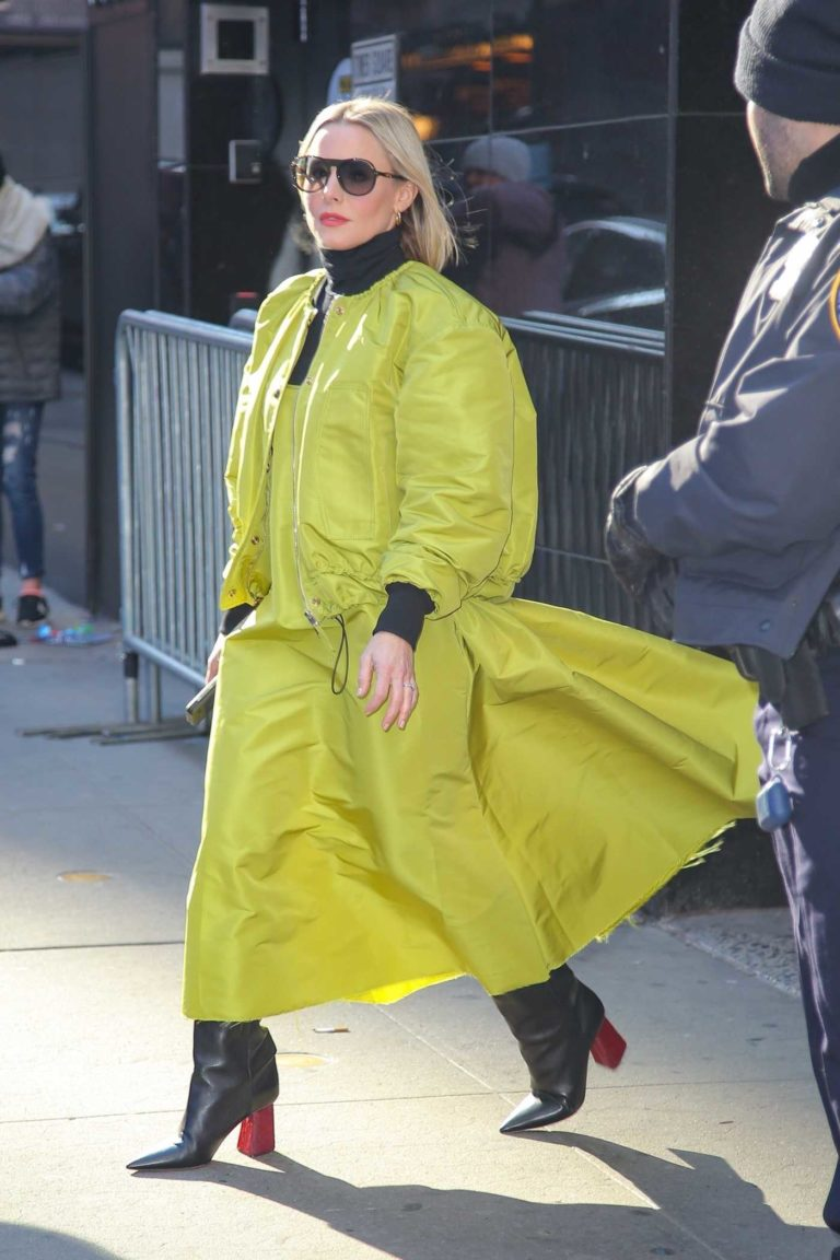 Kristen Bell in a Neon Green Outfit