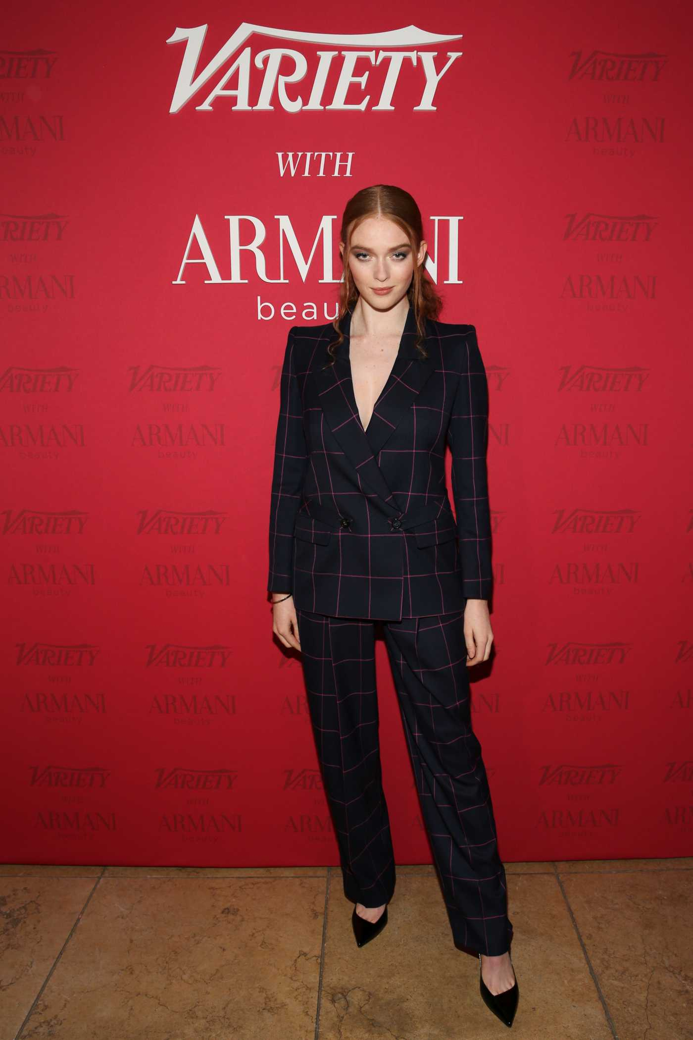 Larsen Thompson Attends 2020 Variety x Armani Makeup Artistry Dinner in Los Angeles 02/04/2020