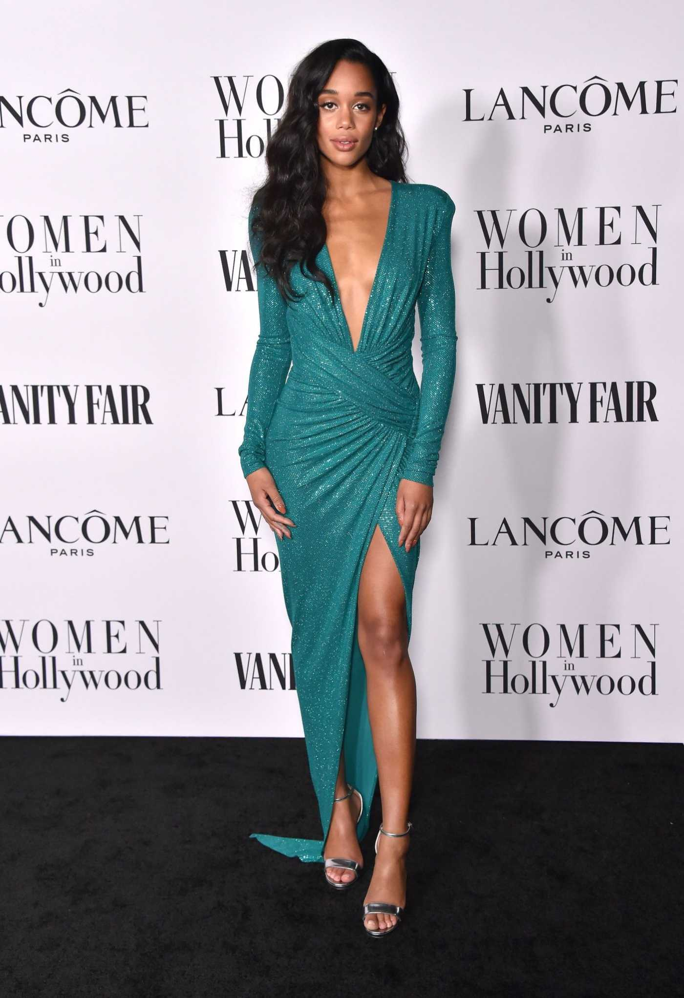 Laura Harrier Attends the Vanity Fair and Lancome Women in Hollywood Celebration at SoHo House in West Hollywood 02/06/2020