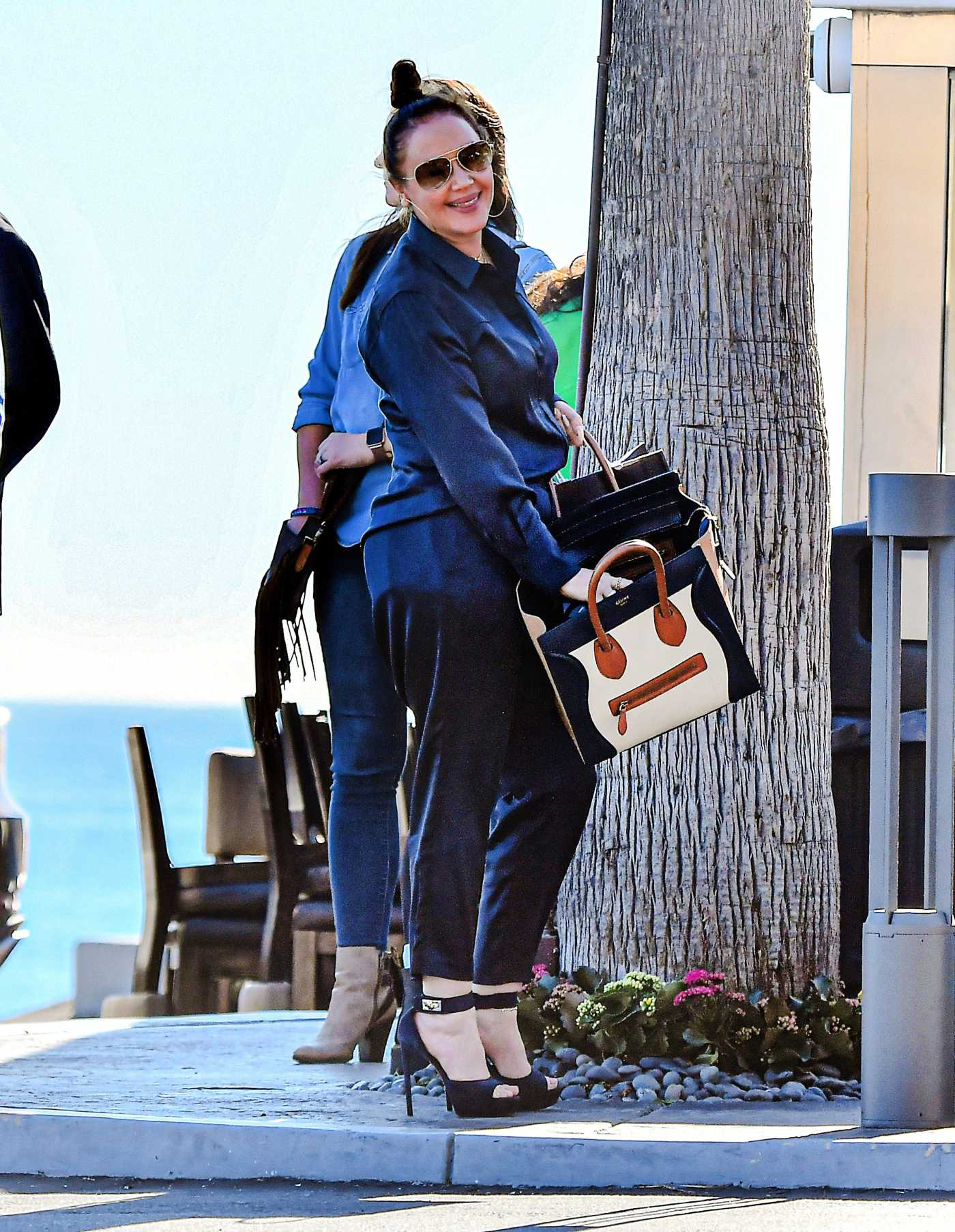 Leah Remini in a Blue Suit Was Seen Out in Malibu 02/03/2020