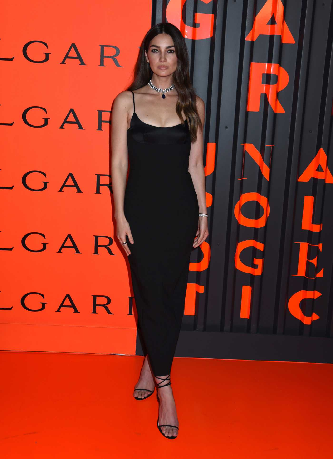 Lily Aldridge Attends the Bvlgari Celebrates B.zero1 Rock Collection in Brooklyn, New York 02/06/2020