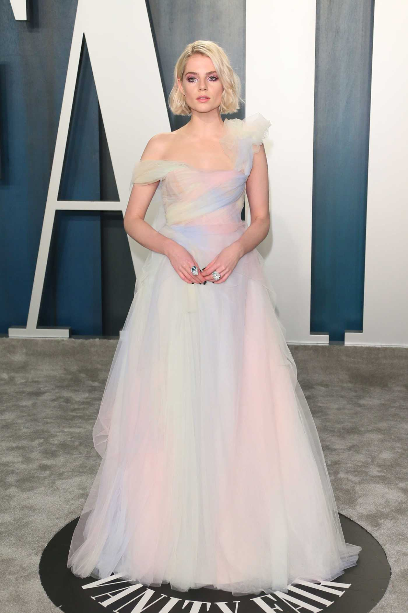 Lucy Boynton Attends the 92nd Academy Awards Vanity Fair Oscar Party in Beverly Hills 02/09/2020