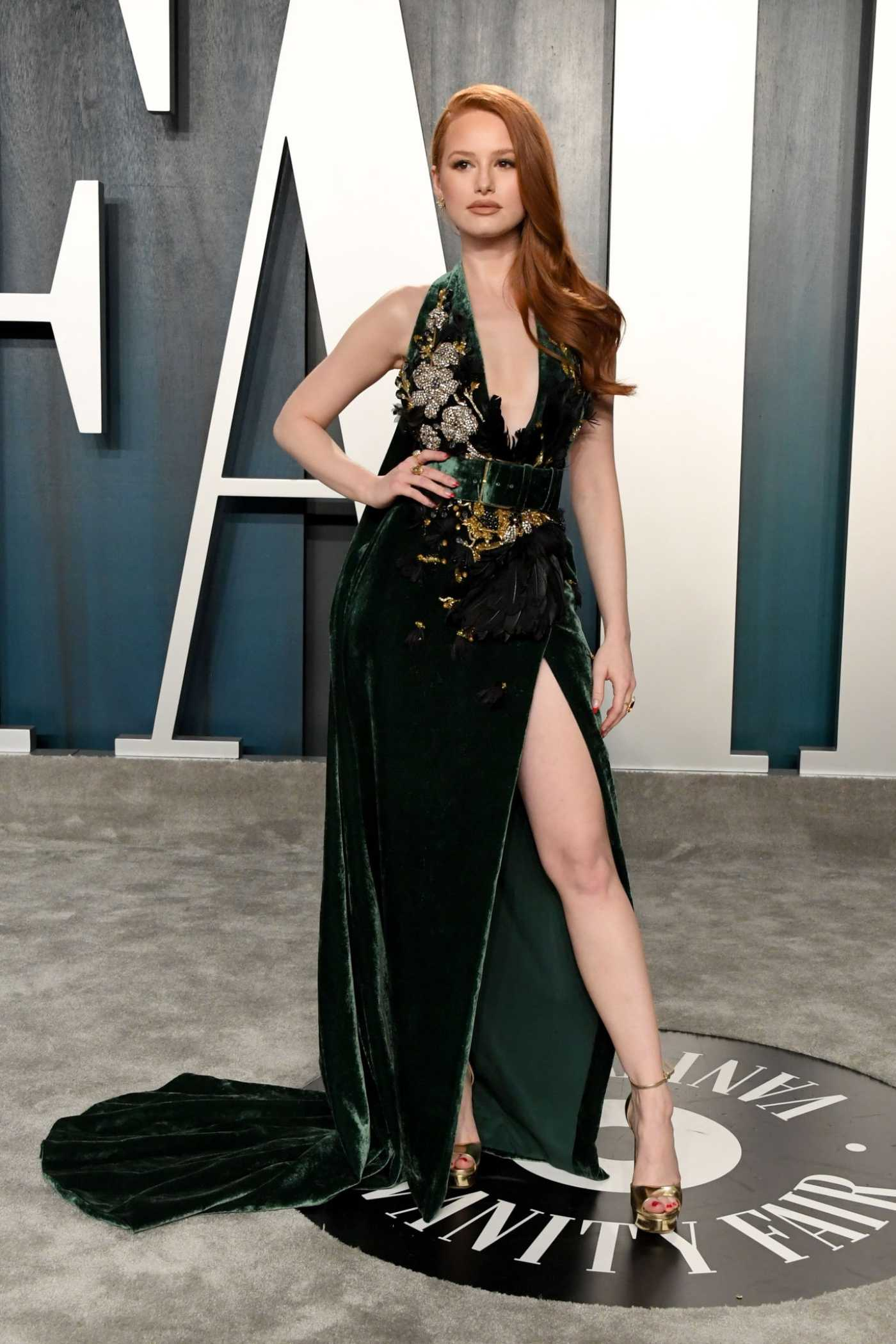 Madelaine Petsch Attends the 92nd Academy Awards Vanity Fair Oscar Party in Beverly Hills 02/09/2020