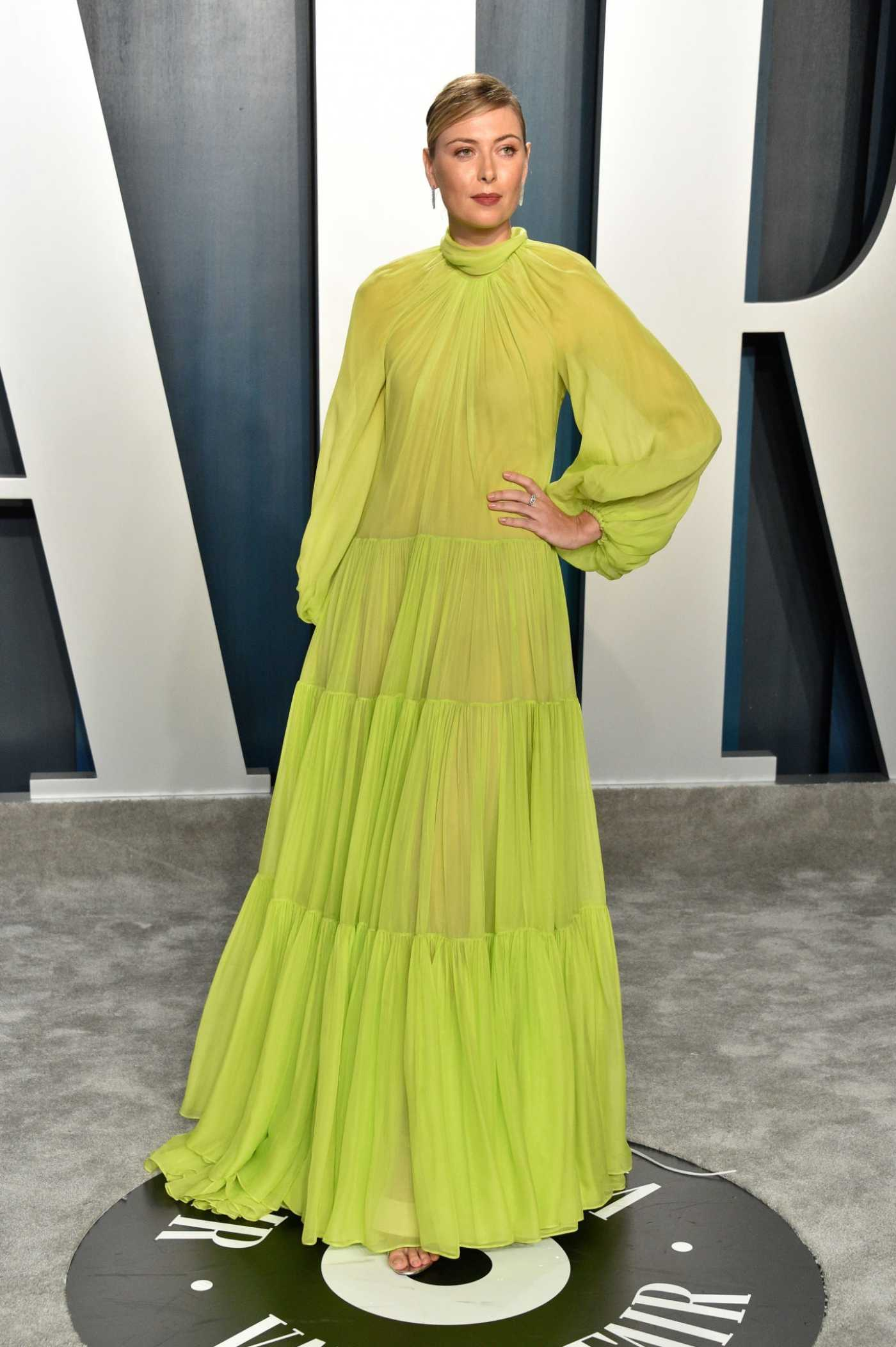 Maria Sharapova Attends the 92nd Academy Awards Vanity Fair Oscar Party in Beverly Hills 02/09/2020