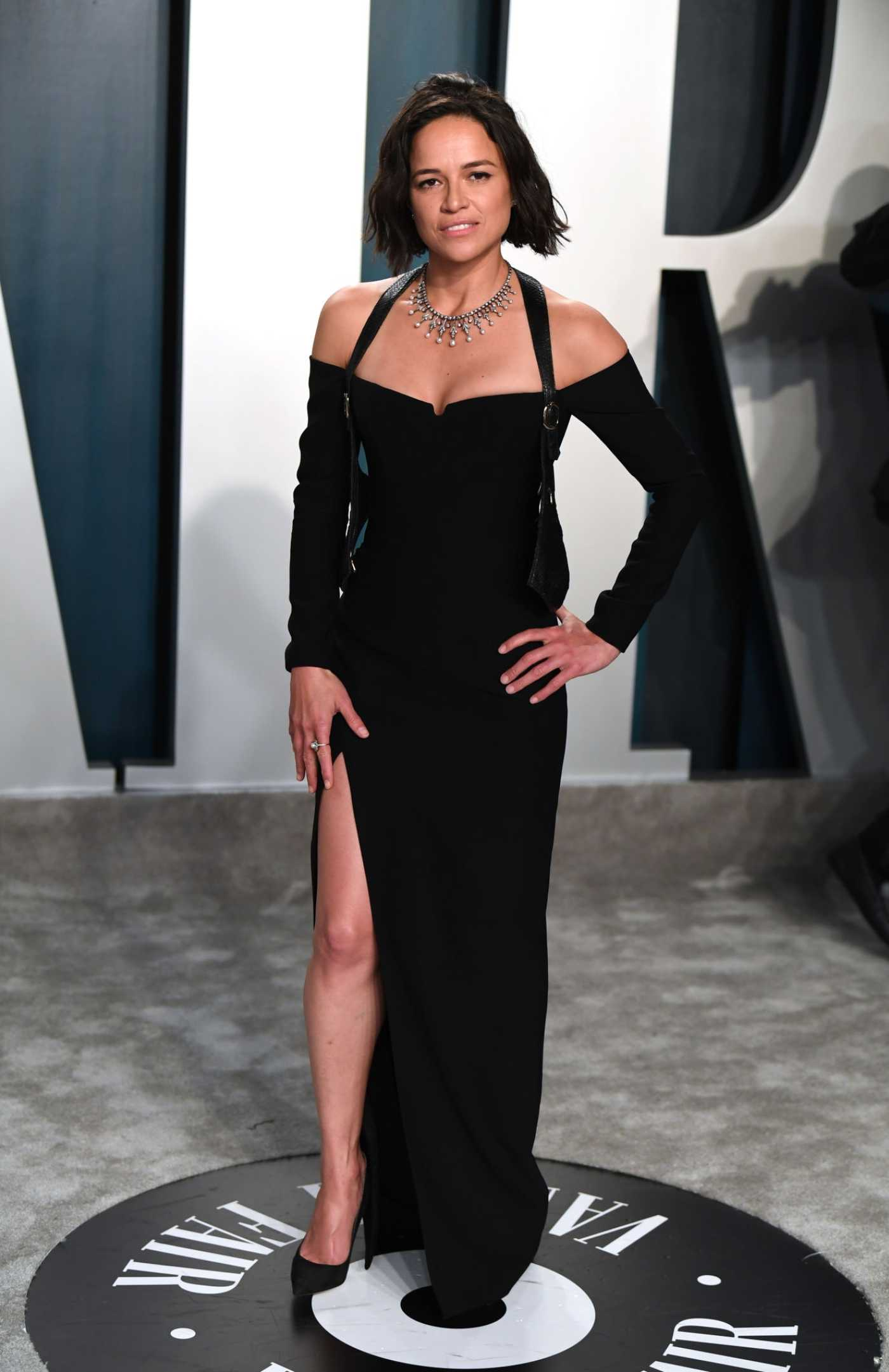 Michelle Rodriguez Attends the 92nd Academy Awards Vanity Fair Oscar Party in Beverly Hills 02/09/2020